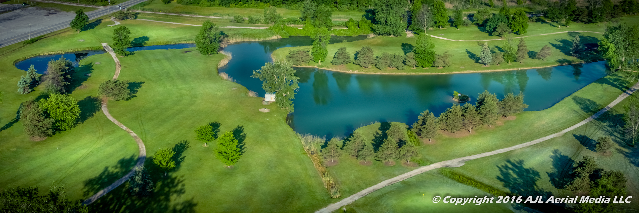 Spring Valley Golf Course Aerial 2016 Panorama