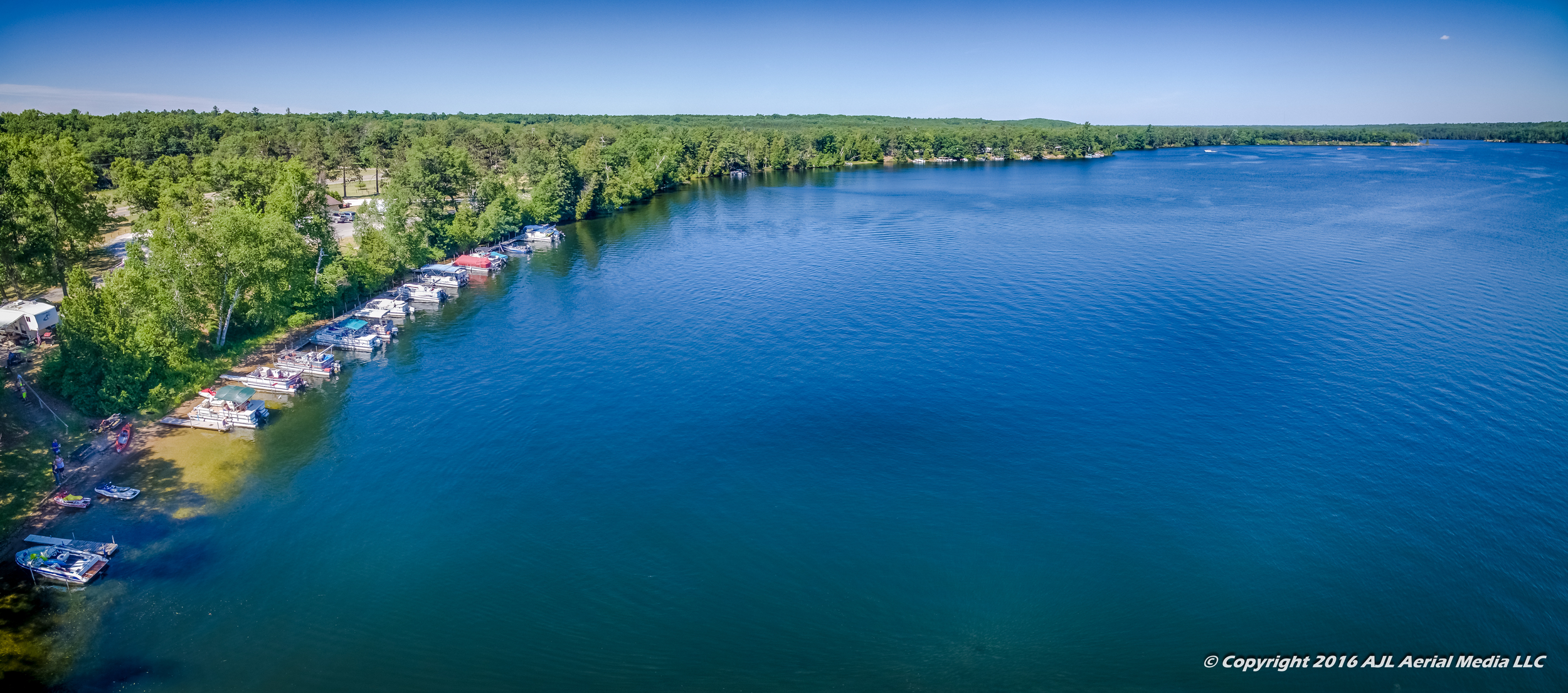 Foote Dam Pond - Old Orchard Campground Aerial 2016