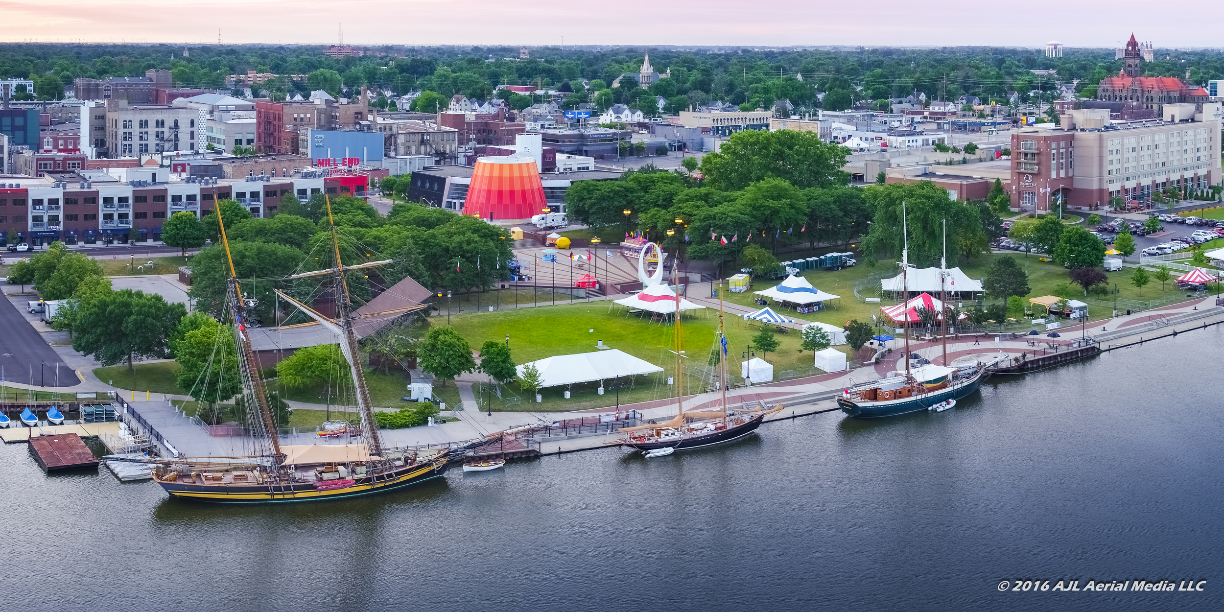 Tall Ships - Downtown Bay City - Aerial 2016