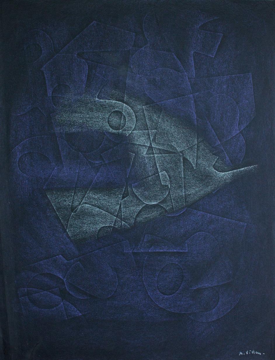 Abstract Composition (Composizione Astratta) - mixed media on paper (tecnica mista su carta) - 1970/76