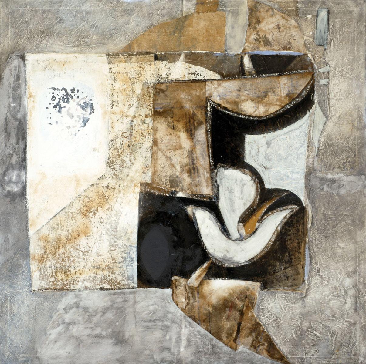 Armonia della Forma Archetipa (Archetypal Shape Armony) - tecnica mista e collage su tela (mixed media and collage on canvas) - 1978/1983