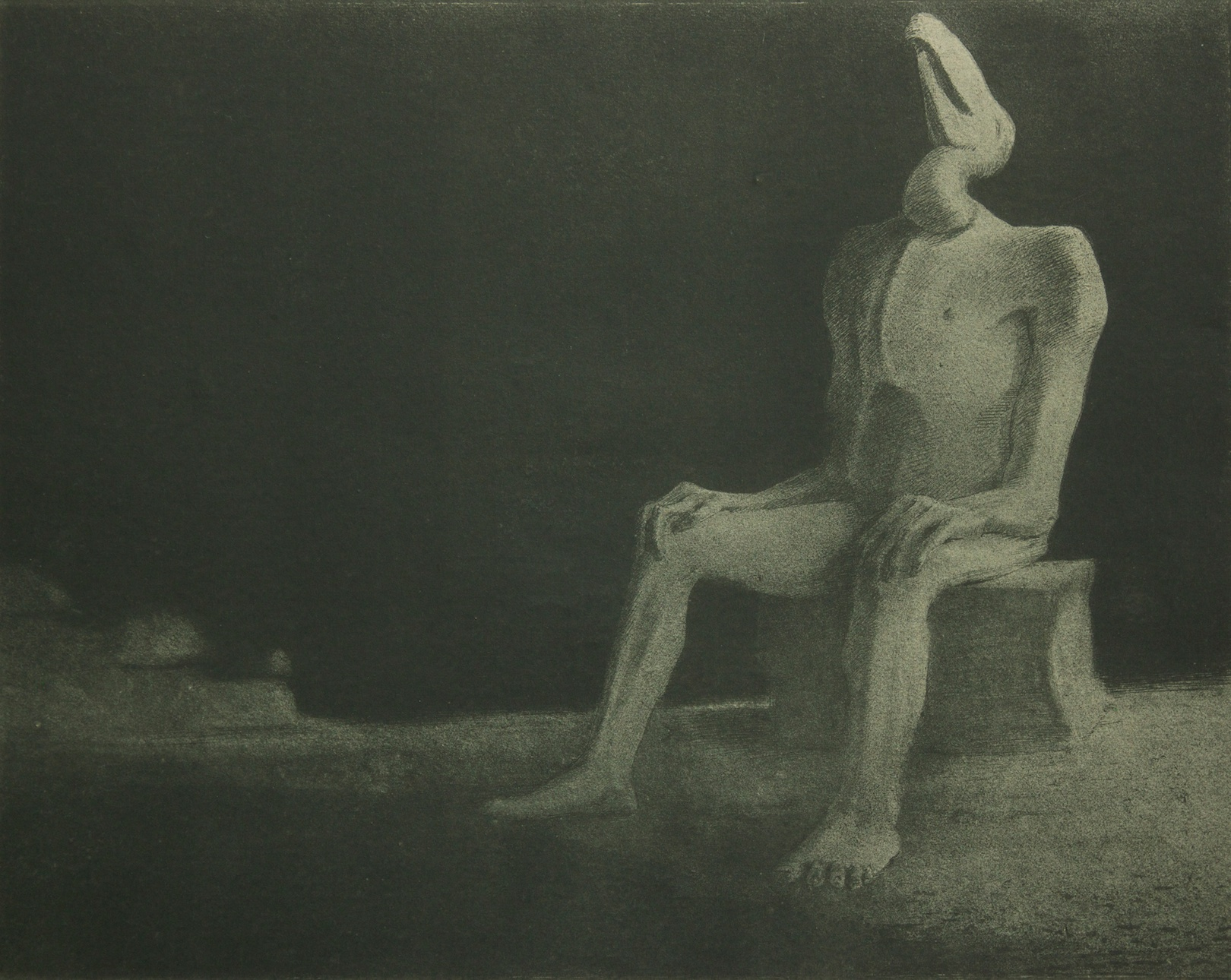 Vergessen-Versunken - collagraphy (collografia) - 1903