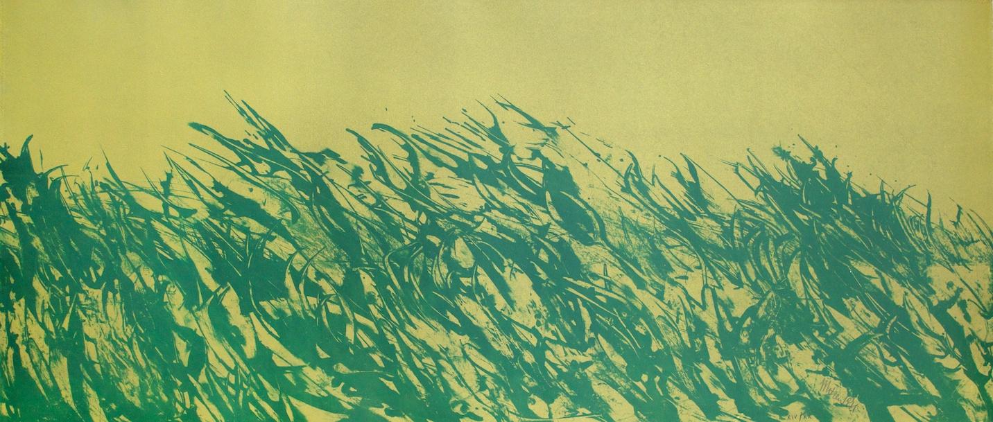 Il Campo Avvelenato Impazzisce (The Poisoned Field Goes Crazy) - litografia su carta (lithography on paper) - 1971