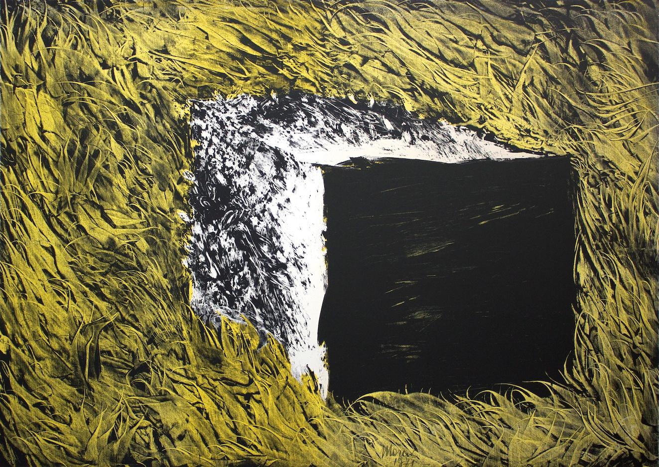 """Un Pezzo Di """"Sugar-Baby"""" Su Campo-Pelliccia (A Piece Of """"Sugar-Baby"""" On Field-Fur) - litografia su carta (lithography on paper) - 1971"""