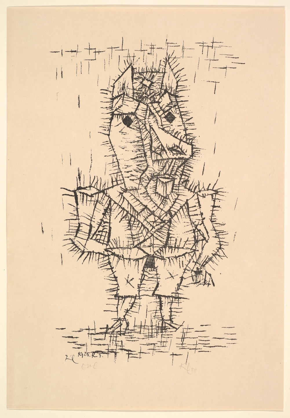 Paul Klee - Ass (Esel) - Lithograph on paper - 1925