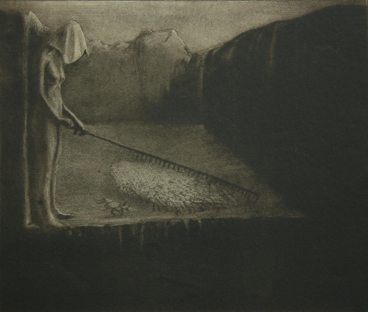 Alfred Kubin - Das Menschenschicksal (The human fate) - Collagraphy - 1903