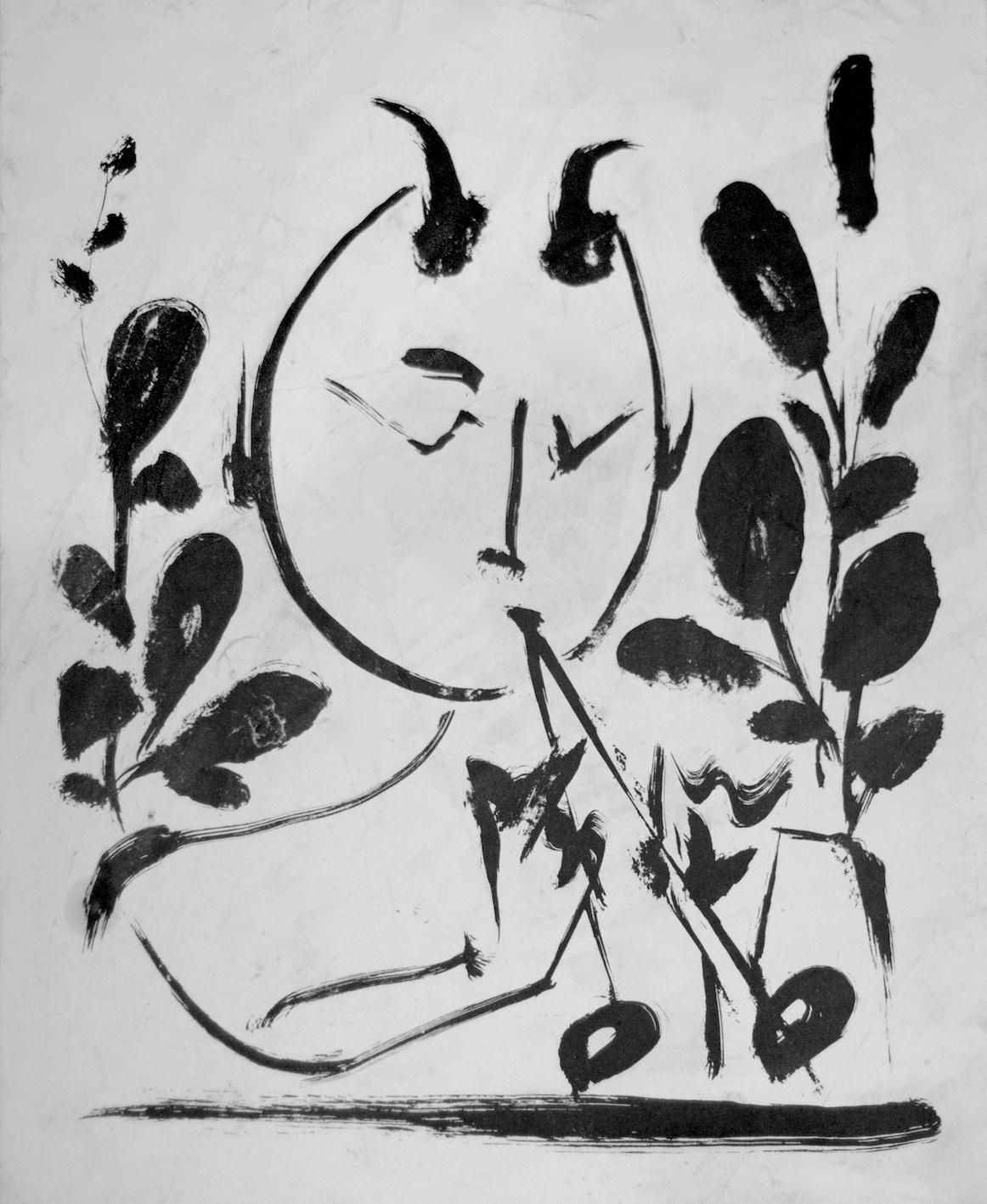 Pablo Picasso - Faun - Lithograph on paper - 1948