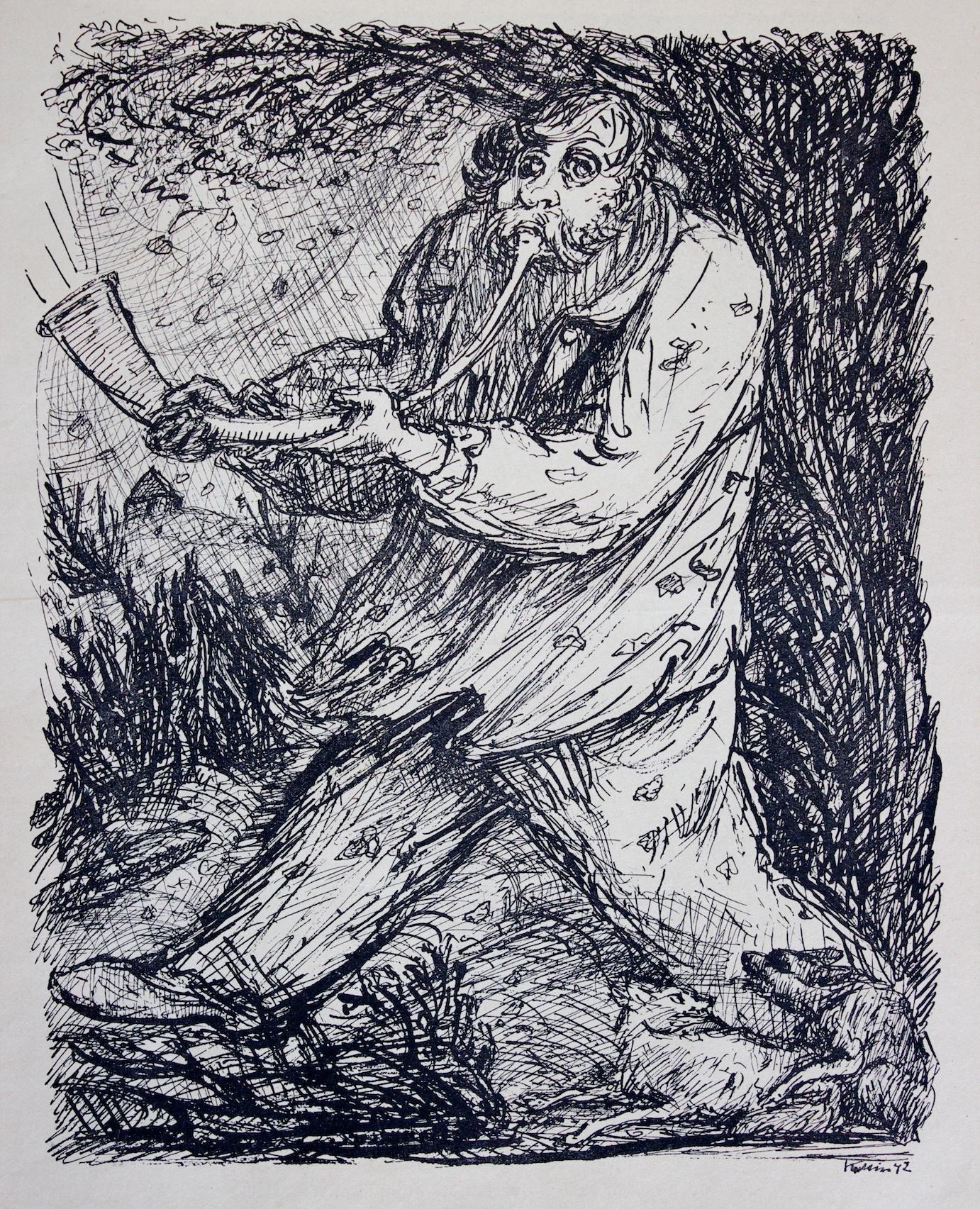 Alfred Kubin - Alfred Leopold Isidor Kubin, pittore, incisore, illustratore e scrittore nasce nel 1877 in Boemia, nella città di Leitmeritz, che venne inglobata poi nell'Impero Austro-Ungarico.Alla morte prematura della madre, ll giovane Kubin tenta il suicidio sulla sua tomba.Studia arte e grafica all'Accademia d'arte di Monaco di Baviera.Nel 1912, diviene membro del gruppo dell'area espressionista