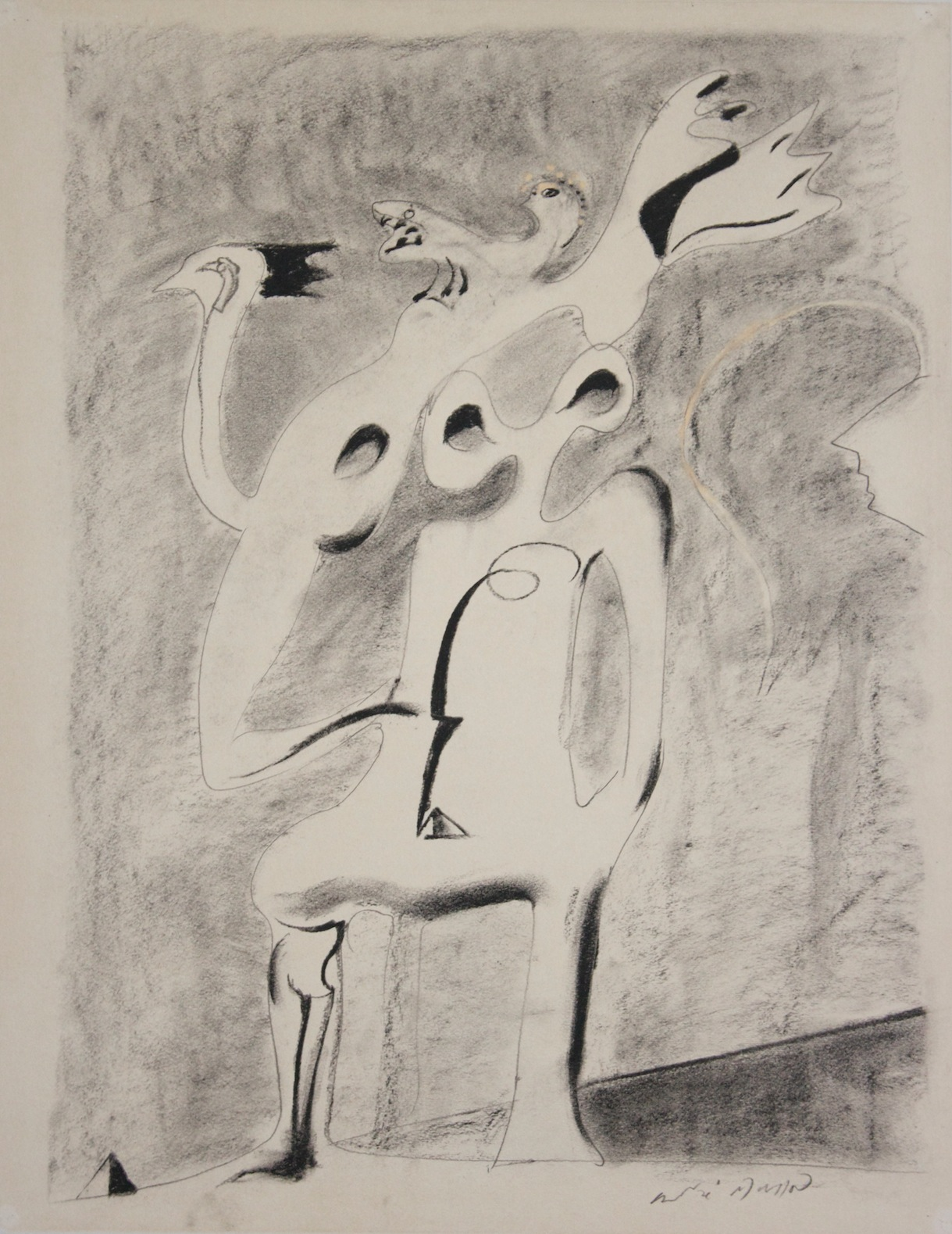 André Masson - Monument Pour Un Desert - Lithograph on paper - 1941