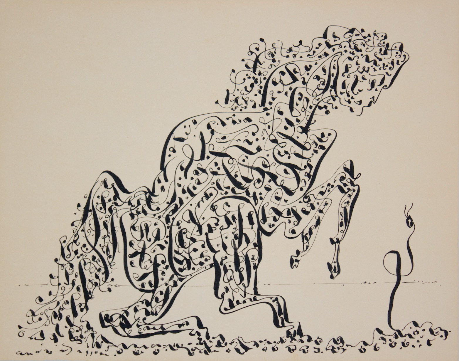 André Masson - La Chimere Au Serpent - Lithograph on paper - 1944