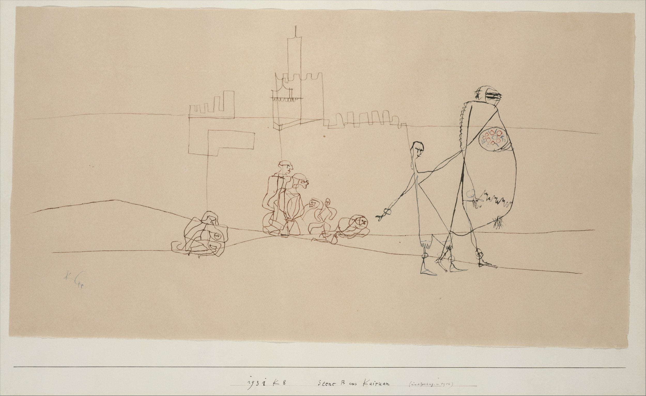 Paul Klee - Episode B at Kairouan - Ink on paper mounted on cardboard - 1931