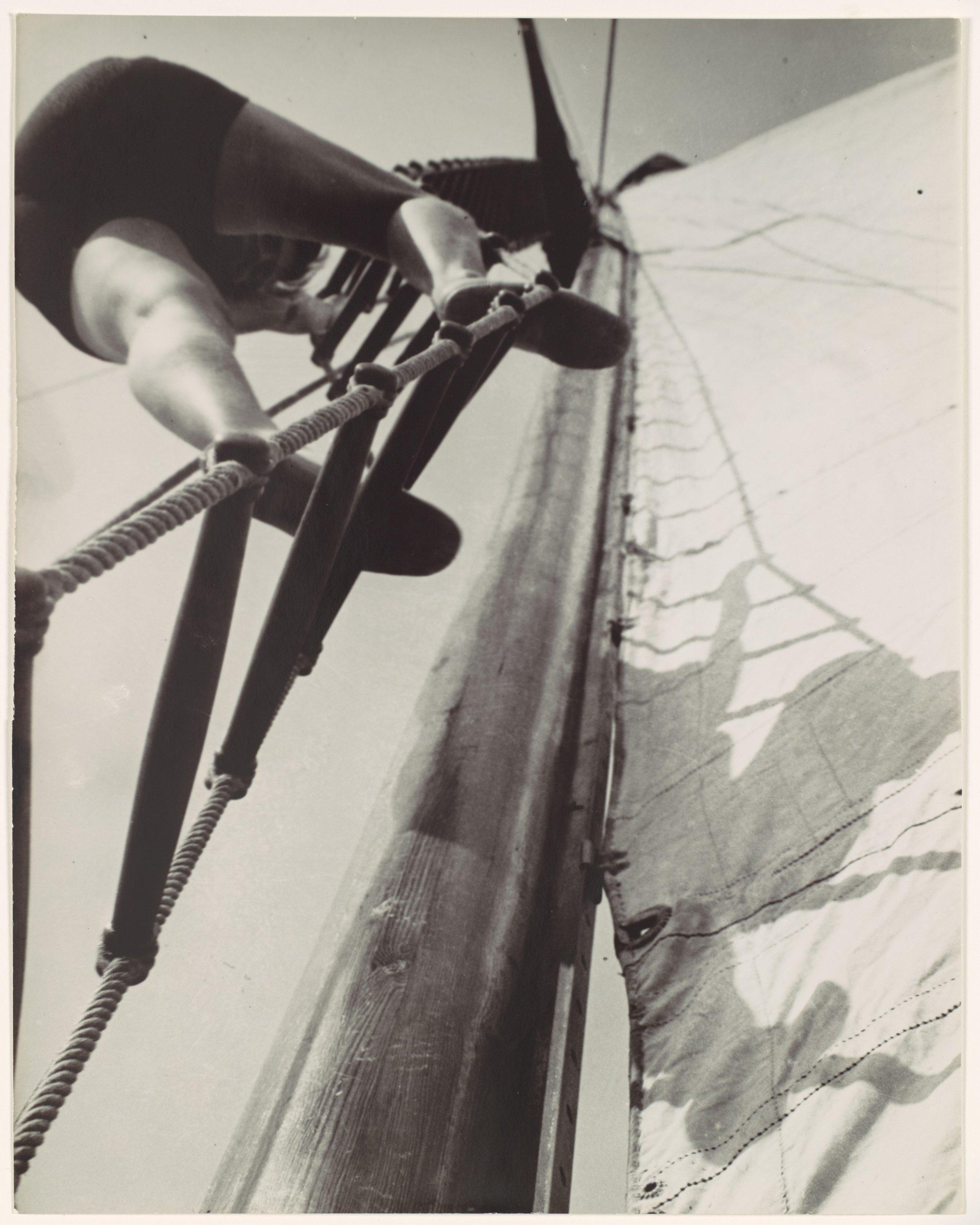 László Moholy-Nagy - [Climbing the Mast] - Gelatin silver print - 1928