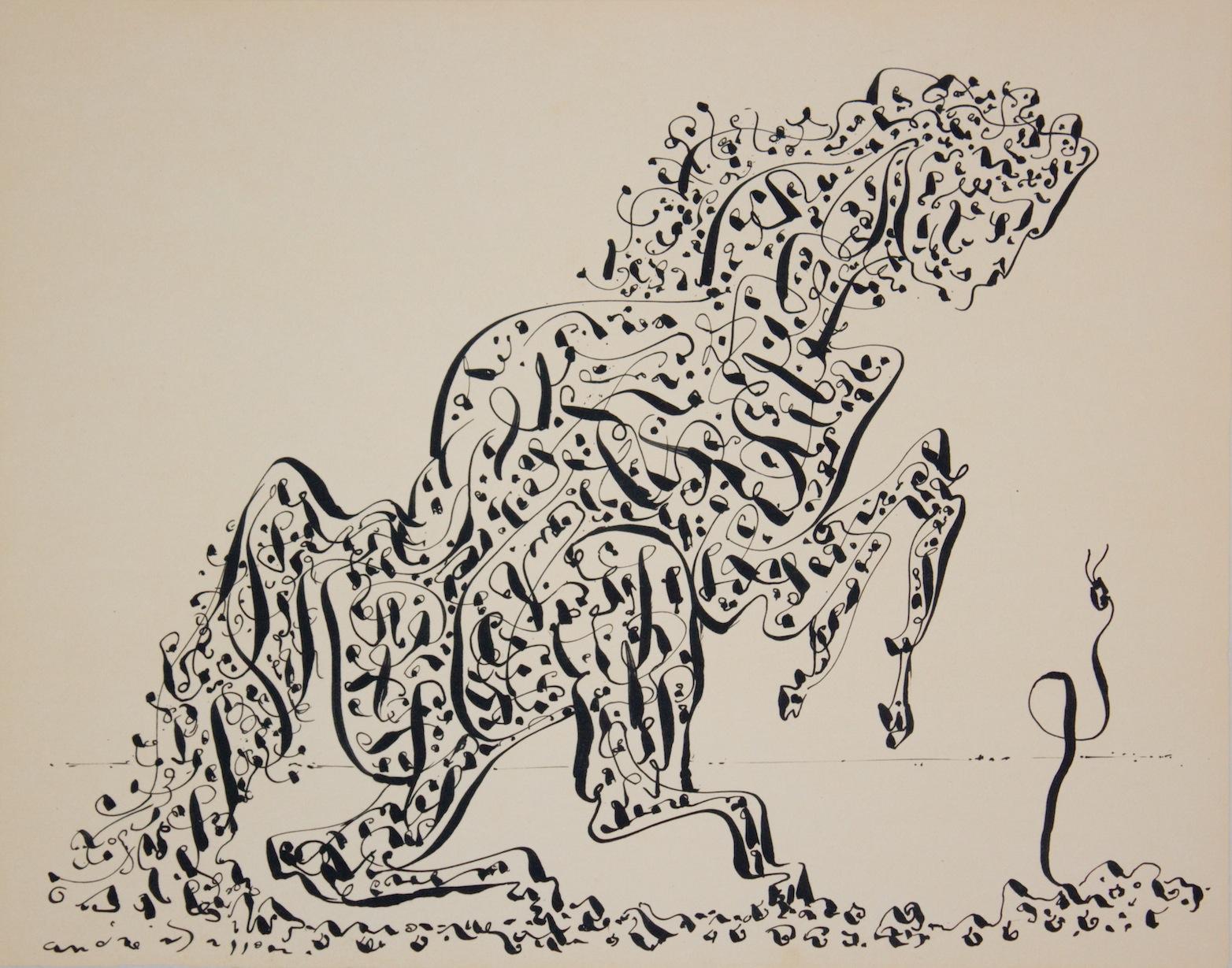 André Masson (1896, Balagny, Oise, Francia) - Si unì al gruppo emergente dei surrealisti a metà degli anni '20, dopo che uno dei suoi dipinti aveva attirato l'attenzione del leader del movimento, André Breton. Ben presto divenne il principale praticante della scrittura automatica, che, applicata al disegno, era una forma di composizione spontanea destinata ad esprimere impulsi e immagini derivanti direttamente dall'inconscio.I dipinti e i disegni di Masson della fine degli anni '20 e degli anni '30 sono rappresentazioni turbolente e suggestive di scene di violenza, erotismo e metamorfosi fisica. Innato talento del disegno, ha usato linee sinuose ed espressive per delineare forme biomorfe che rasentano l'astrazione totale.