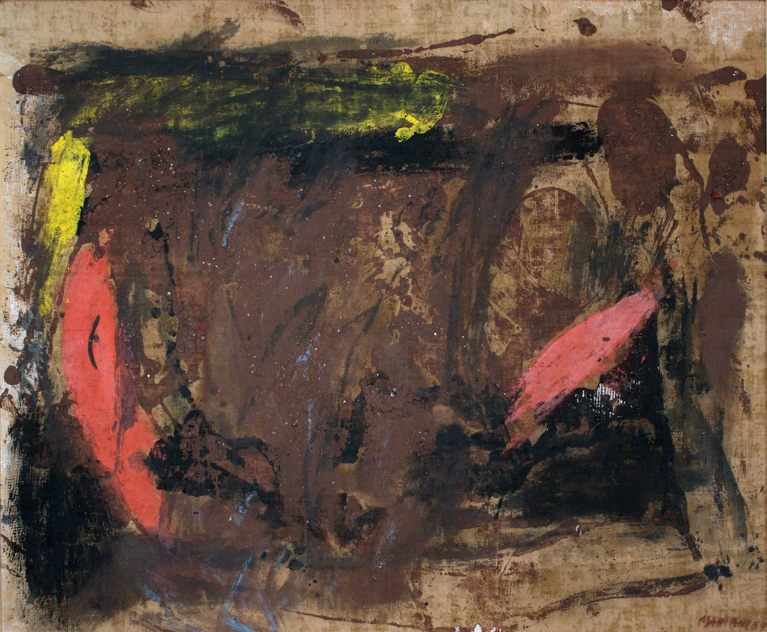 Marcello Mariani - Senza Titolo - Oil and mixed media on canvas - 1959