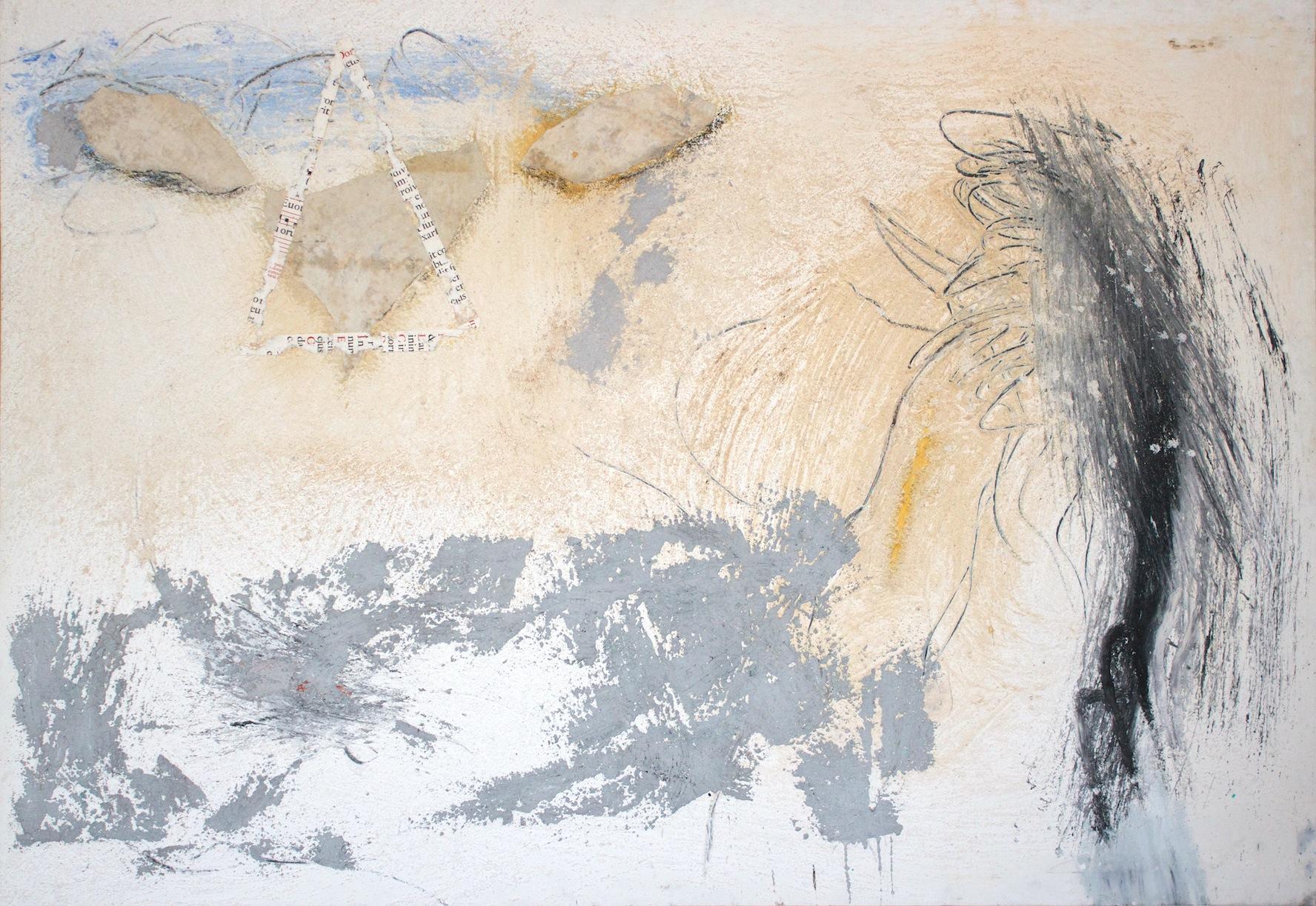 Marcello Mariani - Forma Archetipa - Oil, mixed media and collage on canvas - ca. 1990
