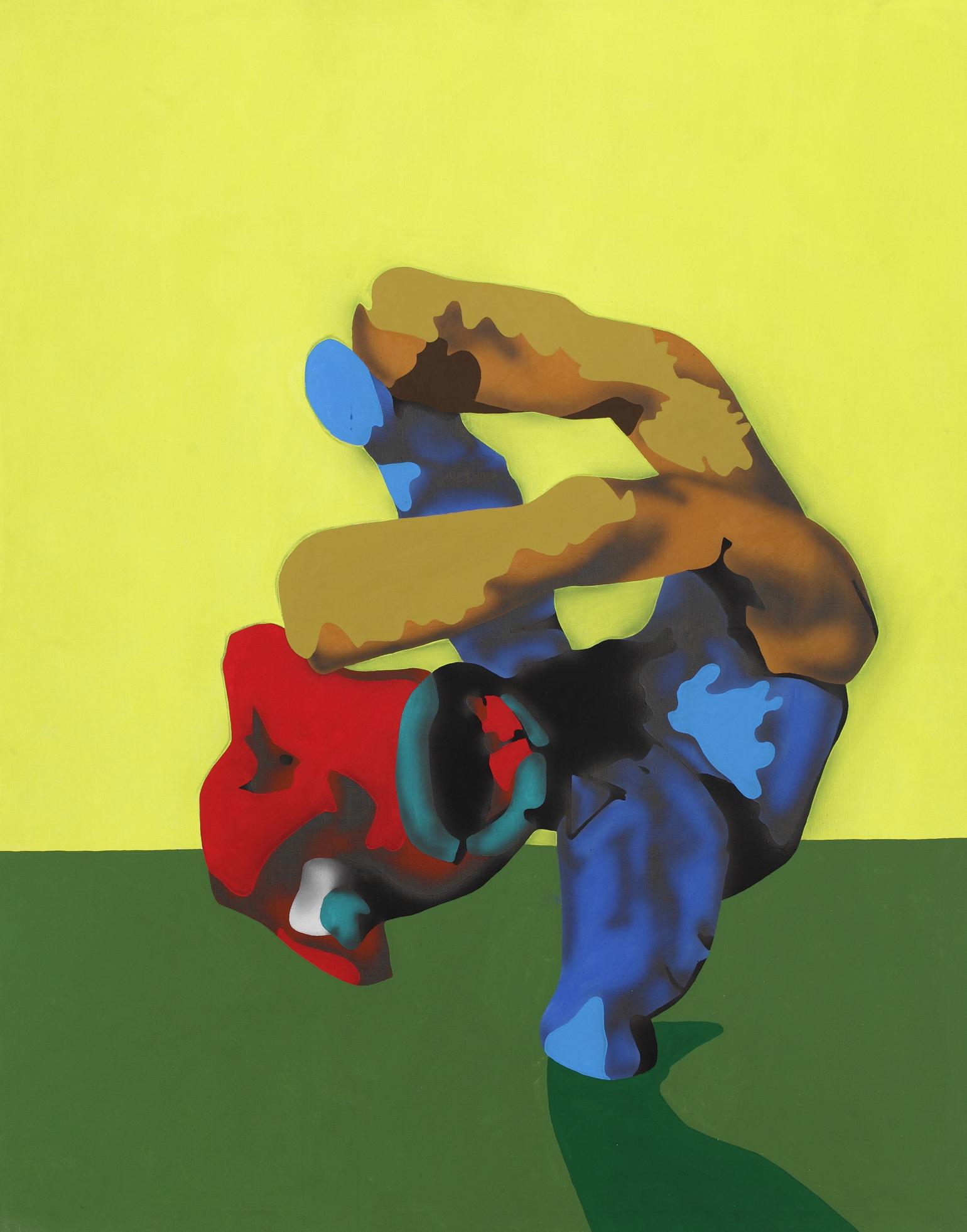 Freez III. 2003, acrylic on canvas, 165 x 130 cm
