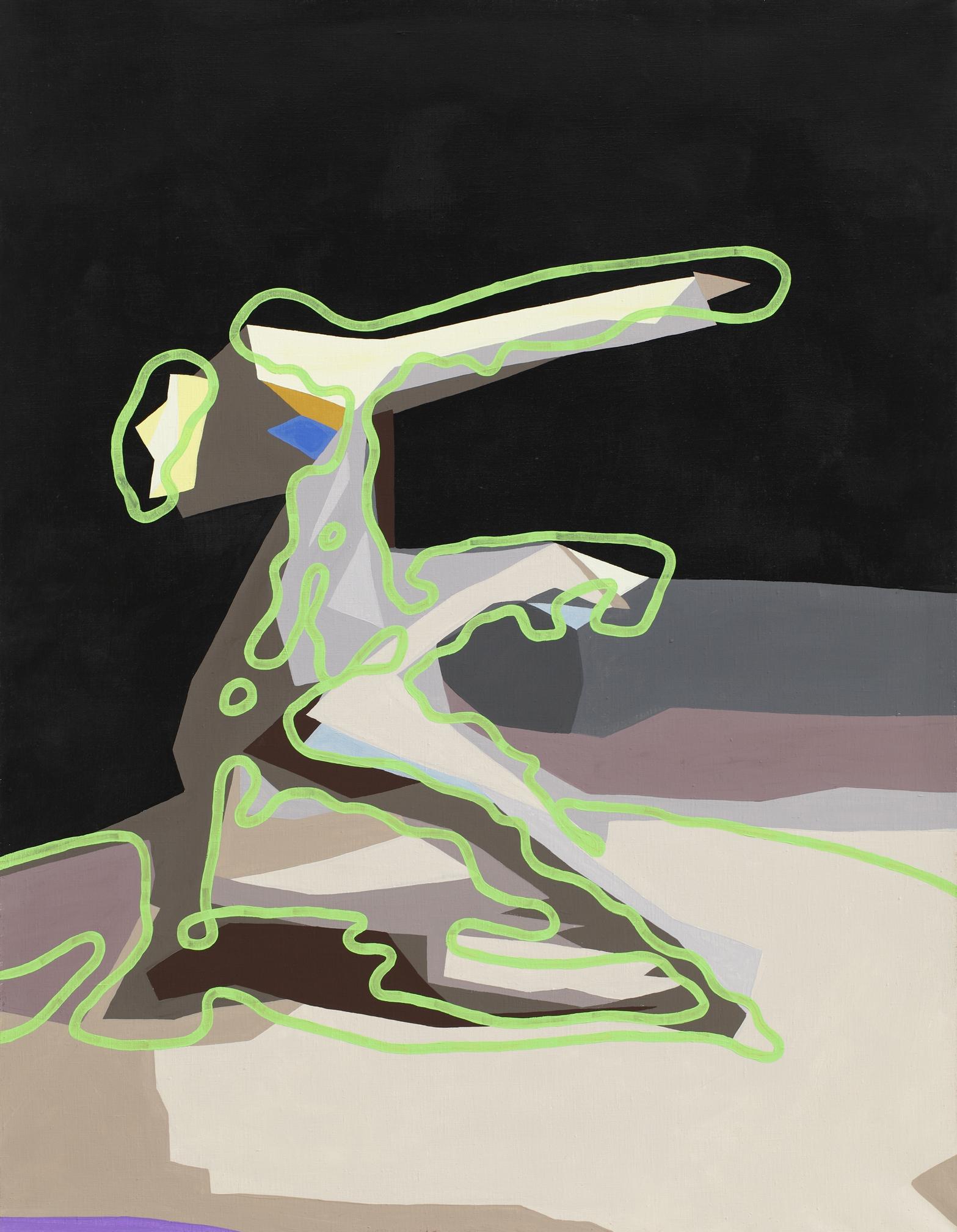 Sixstep, 2004, acrylic on canvas, 125 x 105 cm