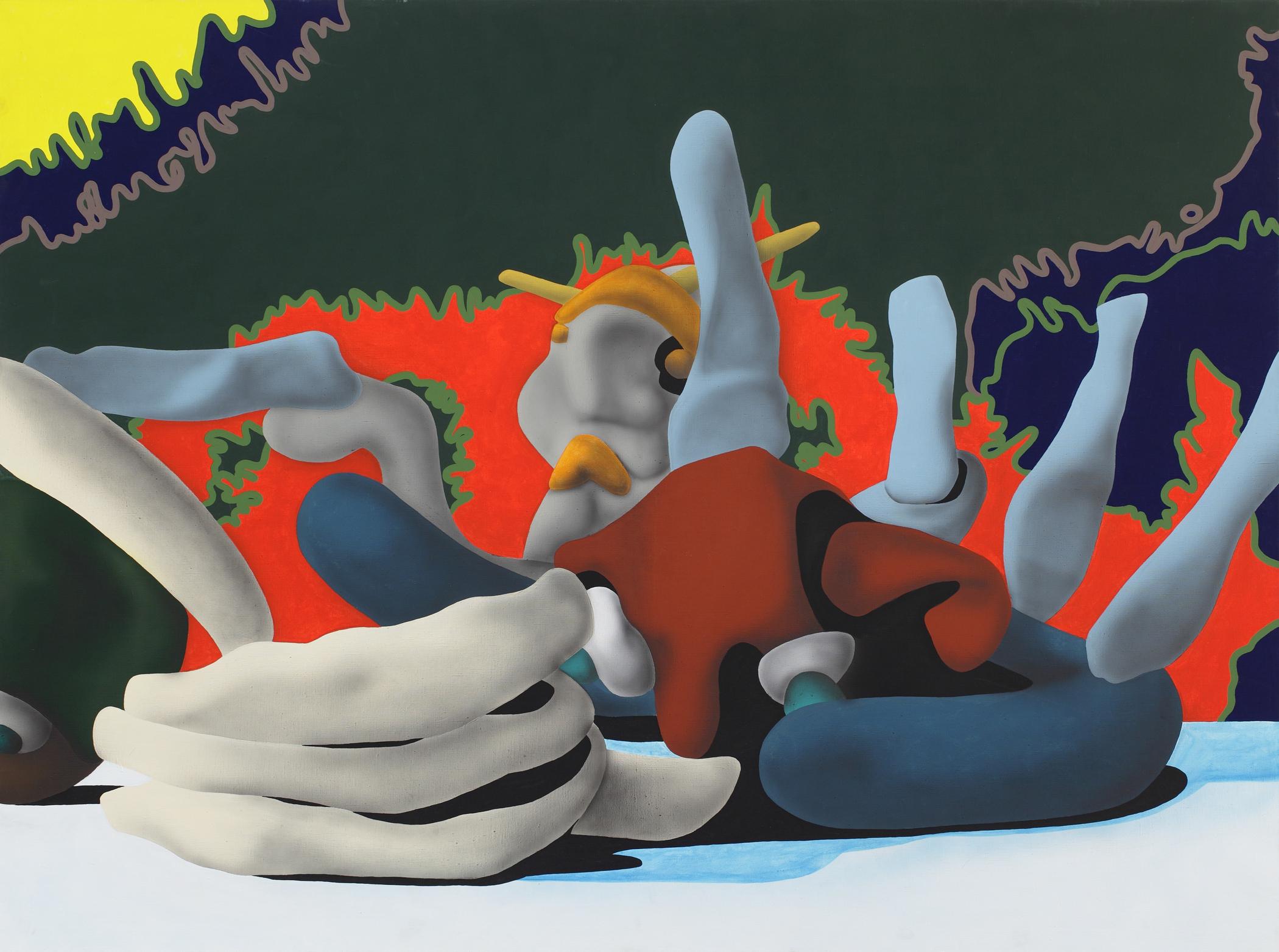 Fight, 2003, acrylic on canvas, 150 x 200 cm