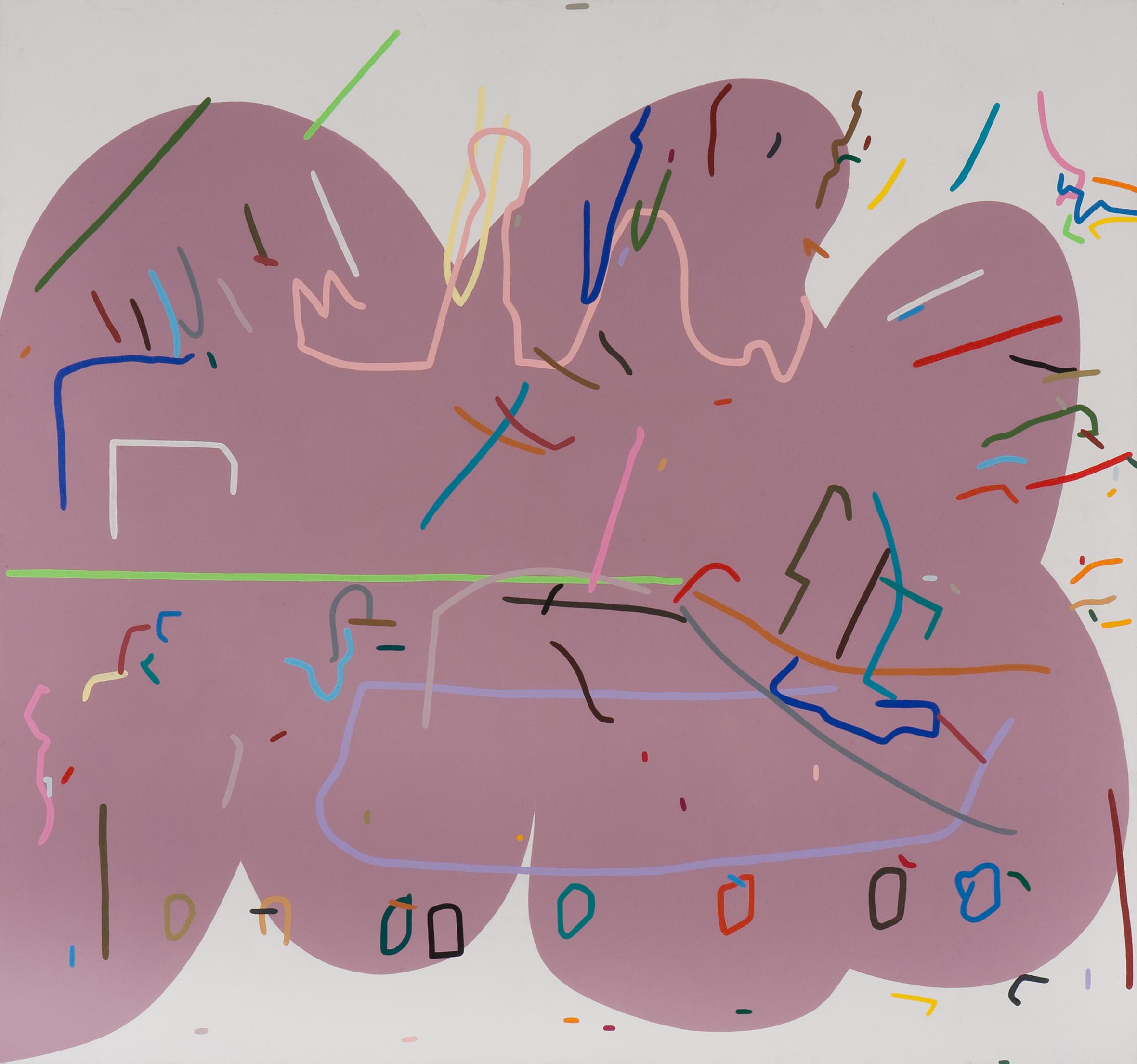 Set II., 2005, acrylic on canvas, 140 x 150 cm
