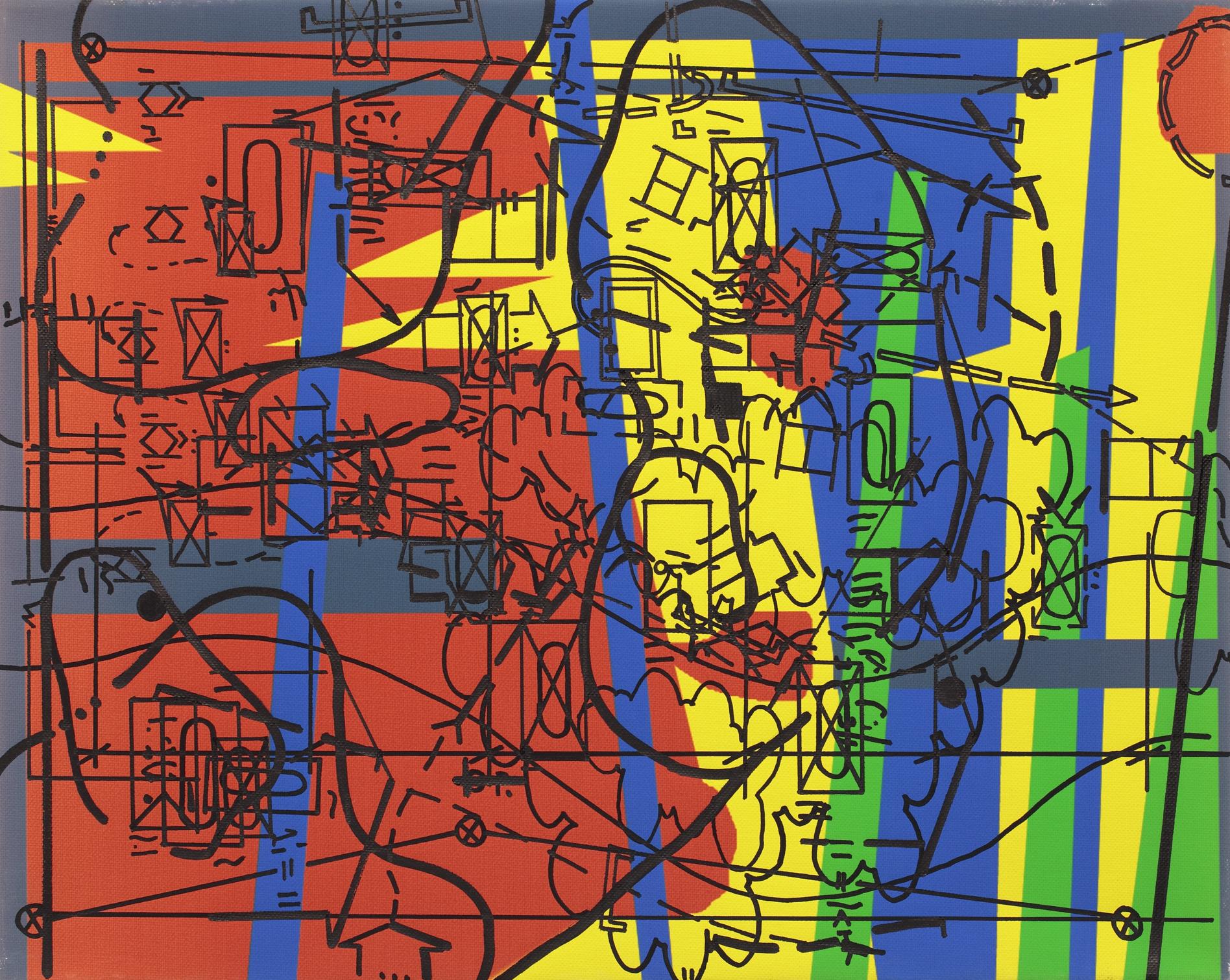 Slave 01 – Slave 12, 2007, print, oil fix on canvas, 40 x 50 cm