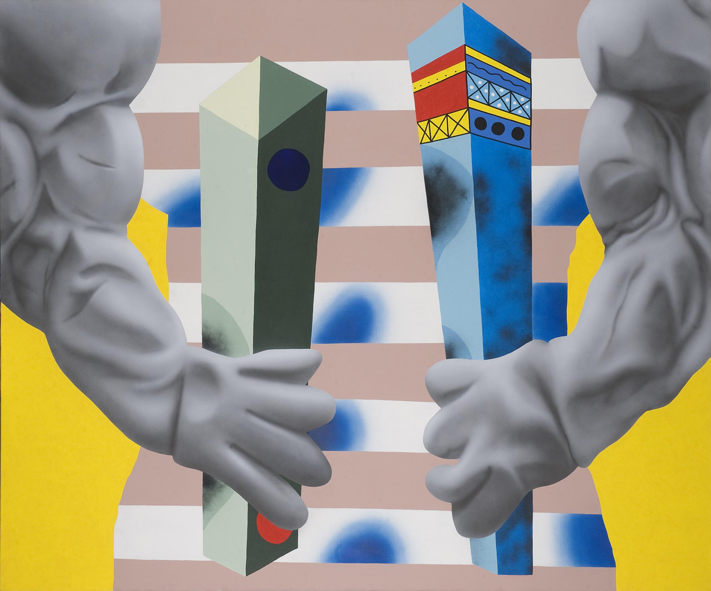 BCAA MAX, 2008, acrylic on canvas, 200 x 240 cm