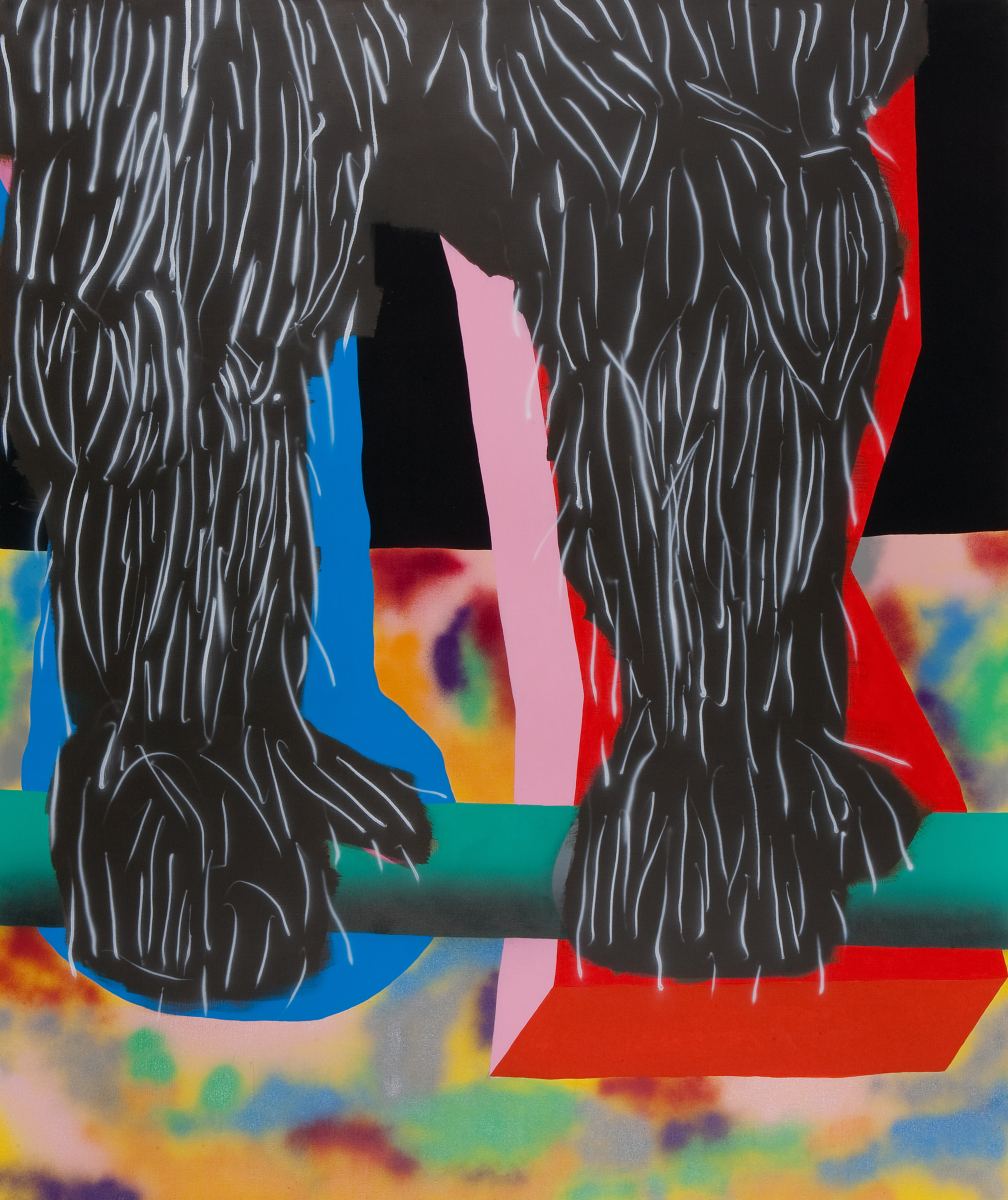 Tribulus Terestis II. 2008, acrylic on canvas, 240 x 200 cm