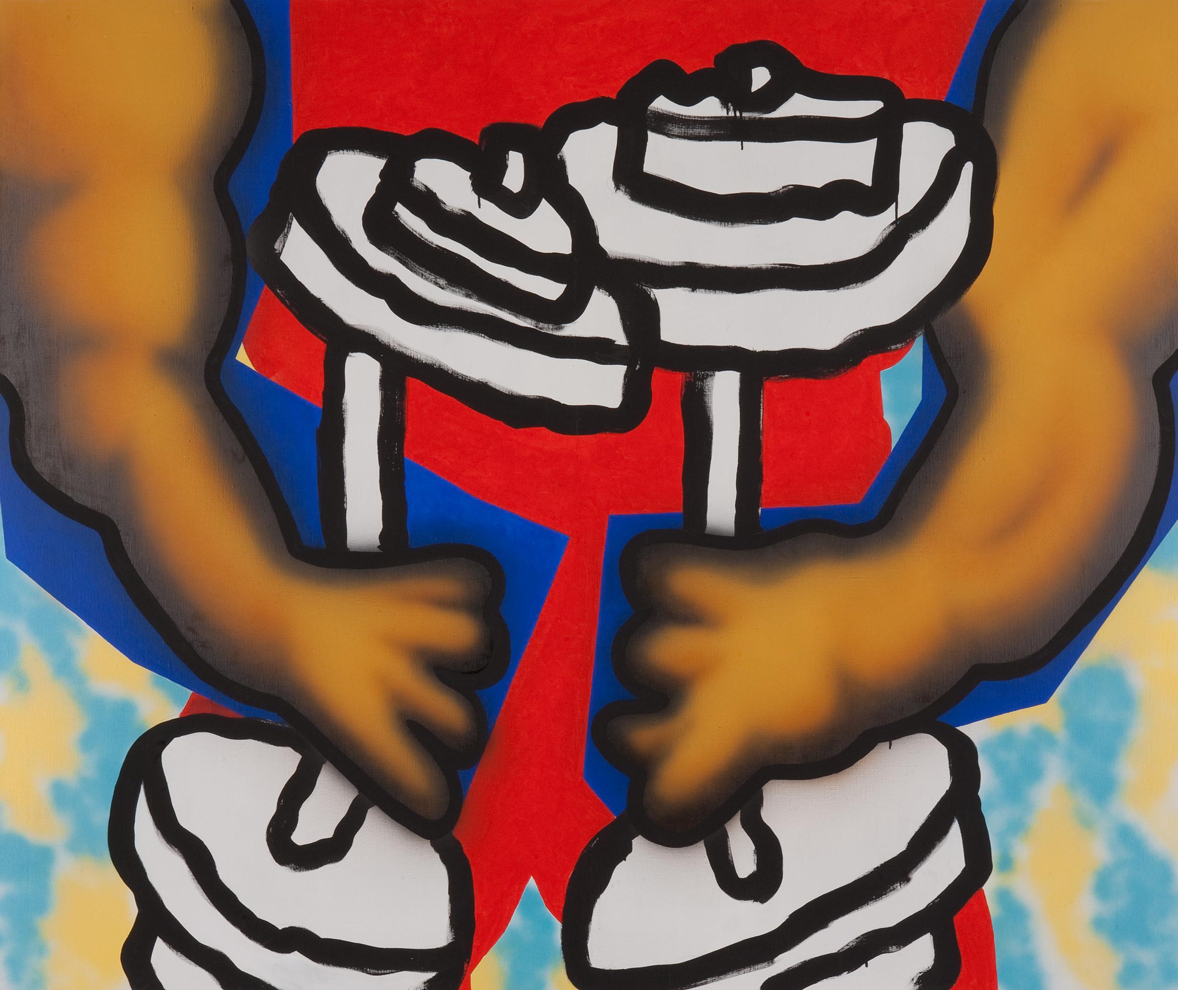Tribulus Terestis, 2008, acrylic, spray on canvas, 170 x 200 cm