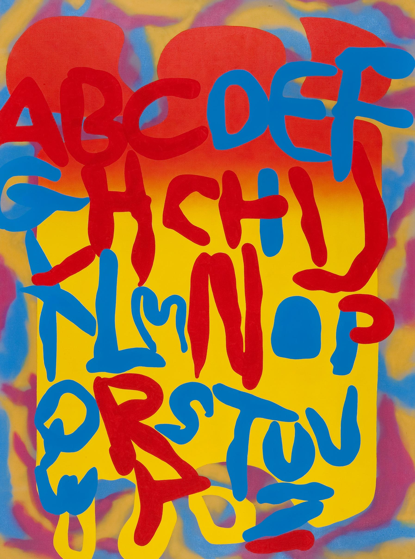 Acid test, 2009, acrylic, spray on canvas, 260 x 190 cm