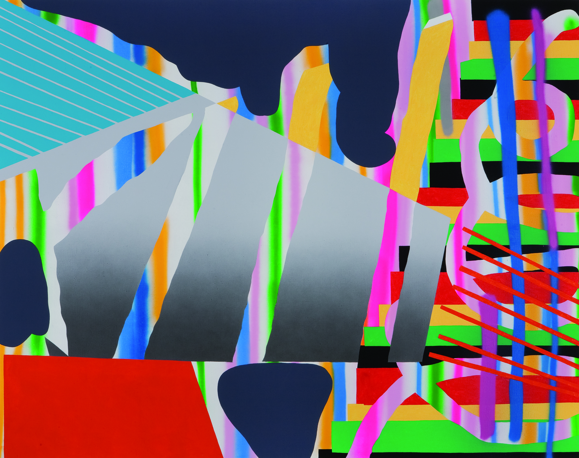 May, 2009, acrylic, spray on canvas, 160 x 200 cm