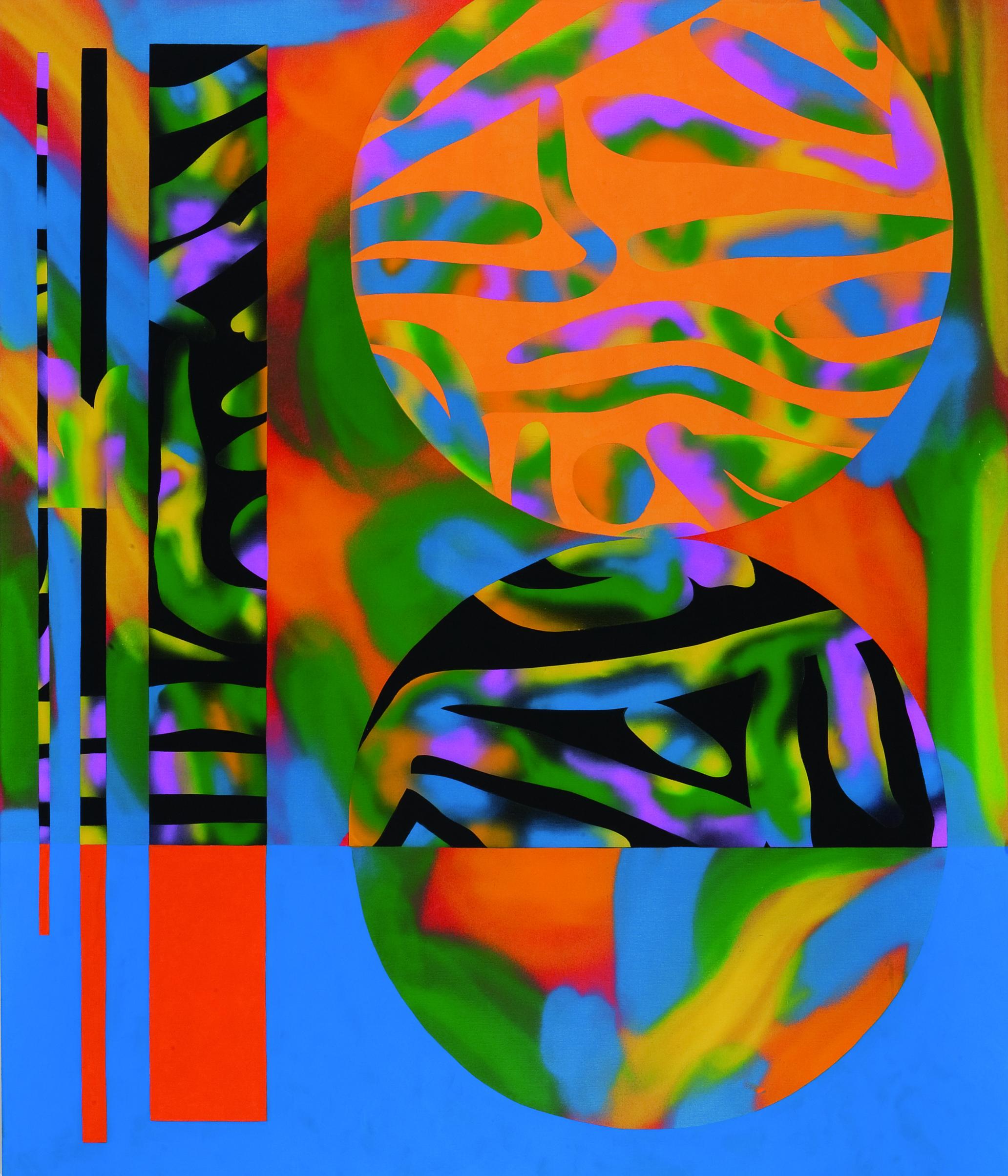 Sunshine Superman, 2009, acrylic, spray on canvas, 220 x 190 cm