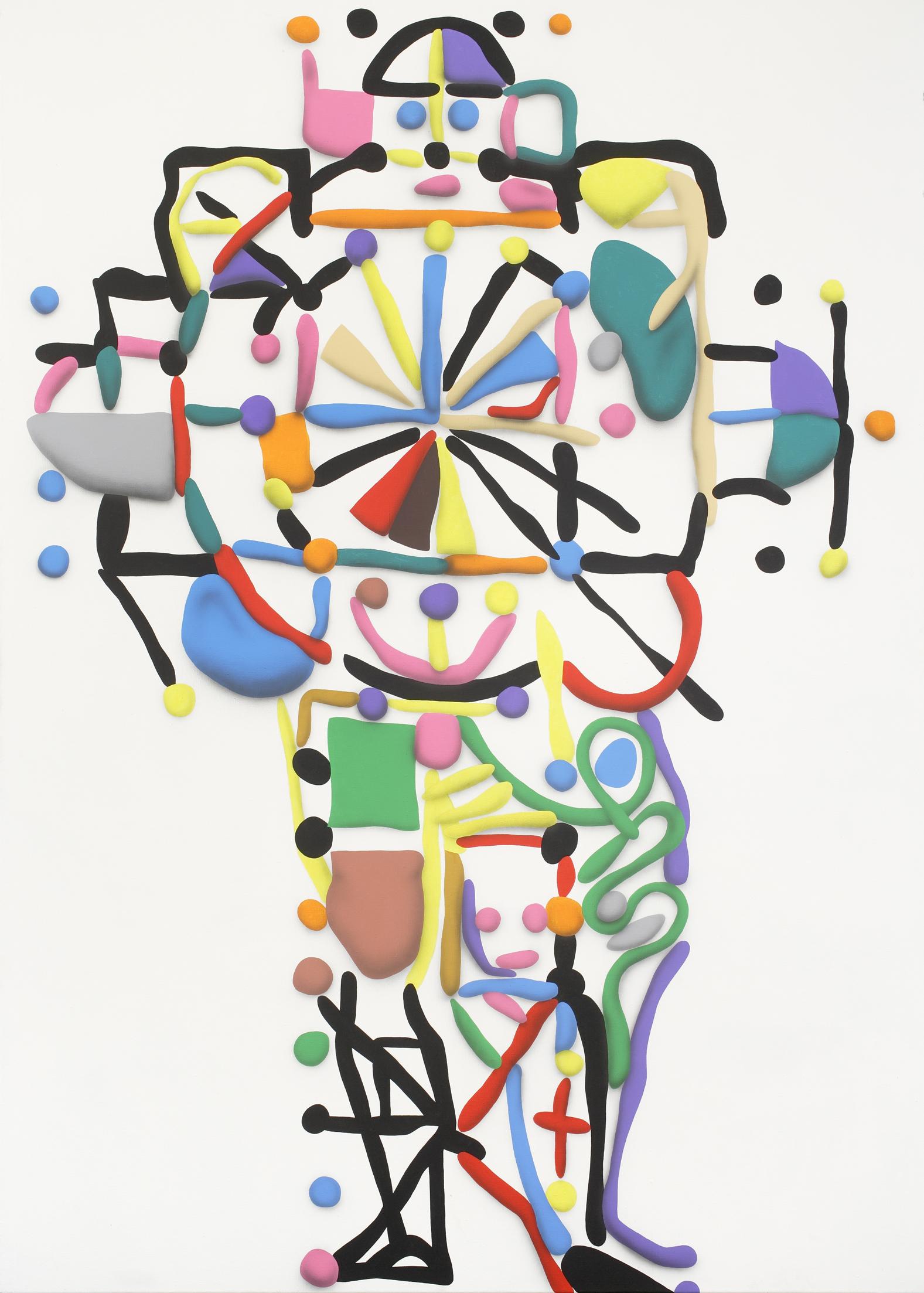 Man And The Cross, 2010, acrylic on canvas, 260 x 185 cm