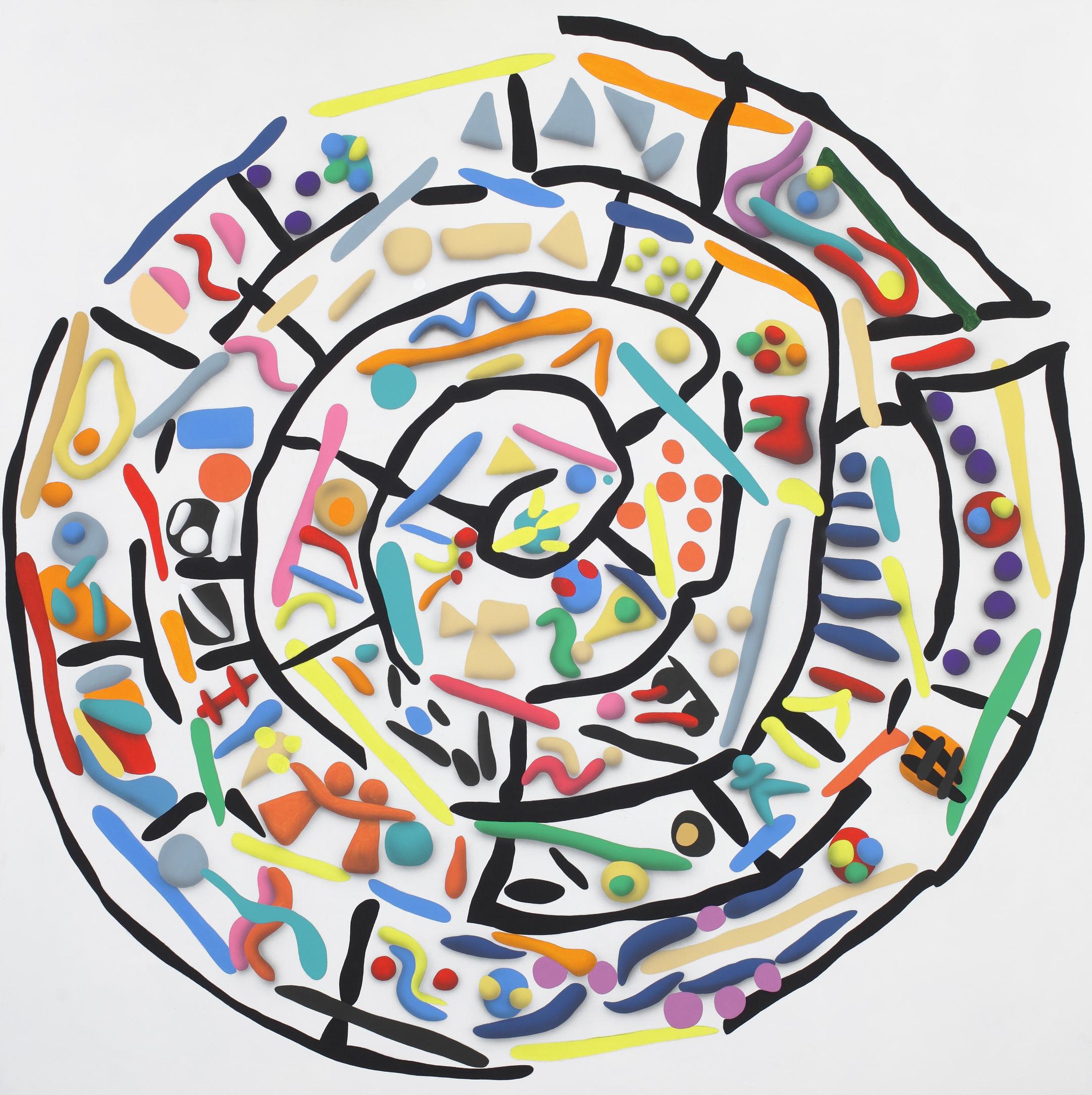 Disk of Faist, side B, 2010, acrylic on canvas, 210 x 210 cm