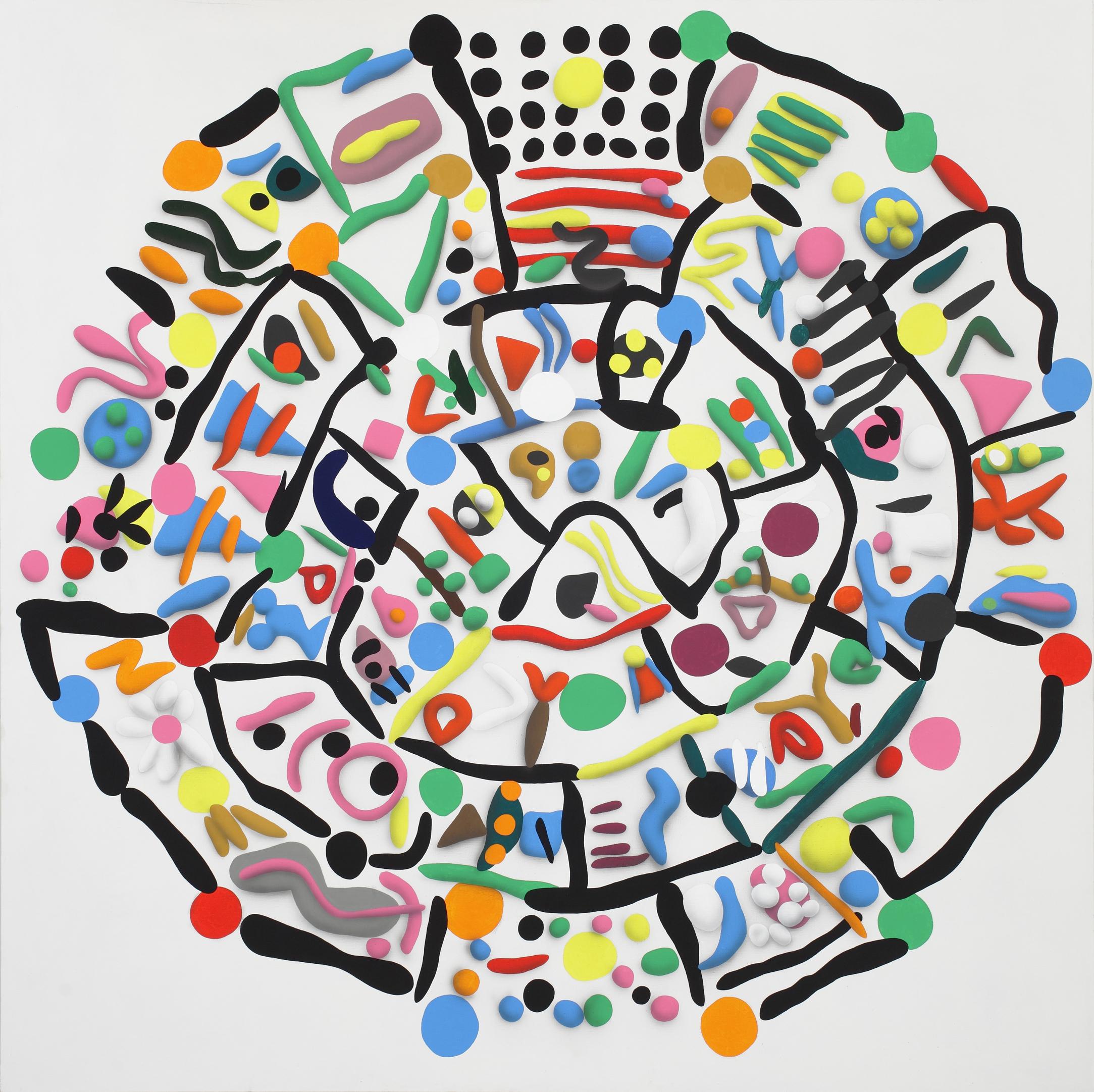 Disk of Faist, side A, 2010, acrylic on canvas, 210 x 210 cm