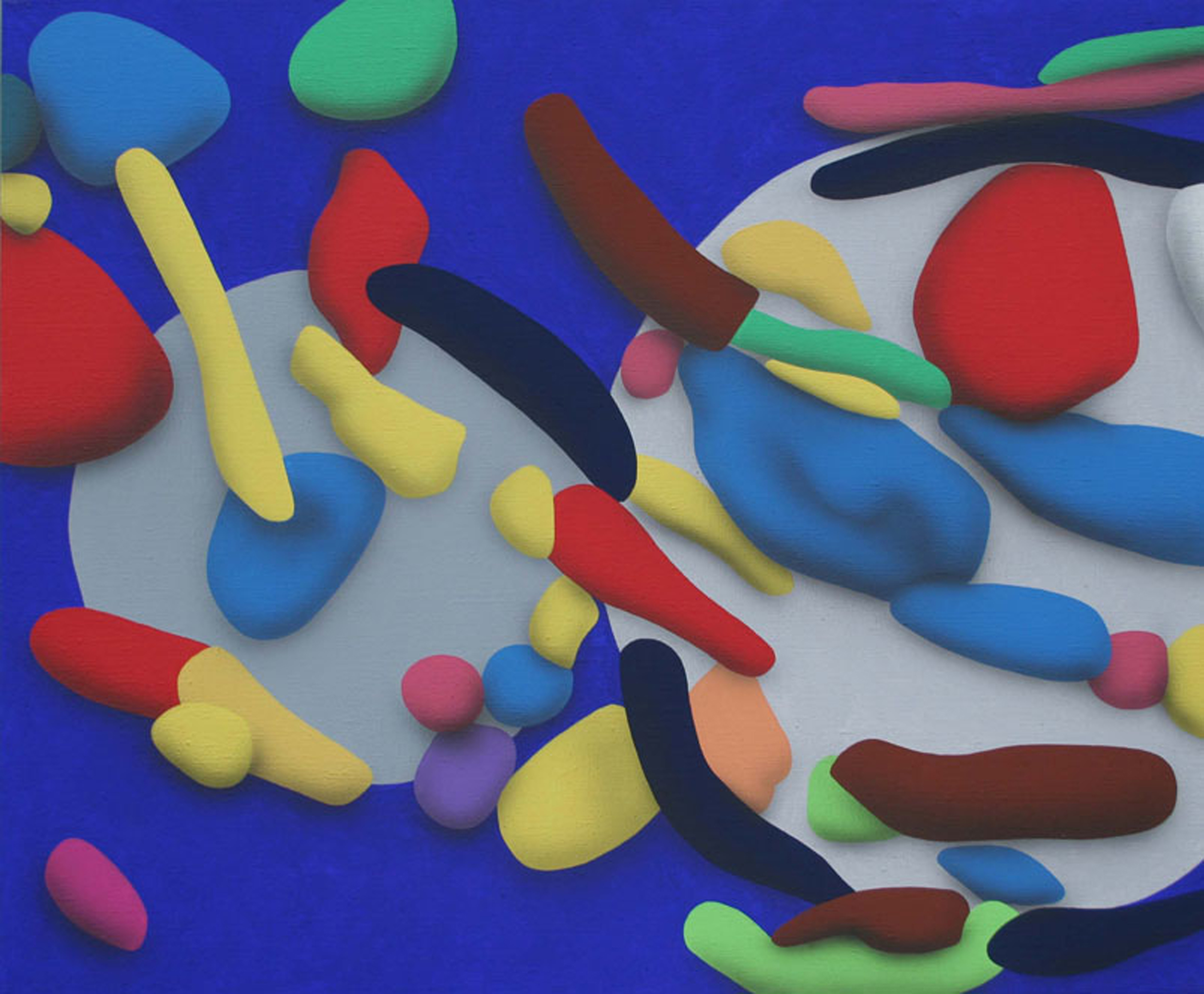 Touches Of Surface And Volume Forms V. 2010, acrylic on canvas, 70 x 85 cm