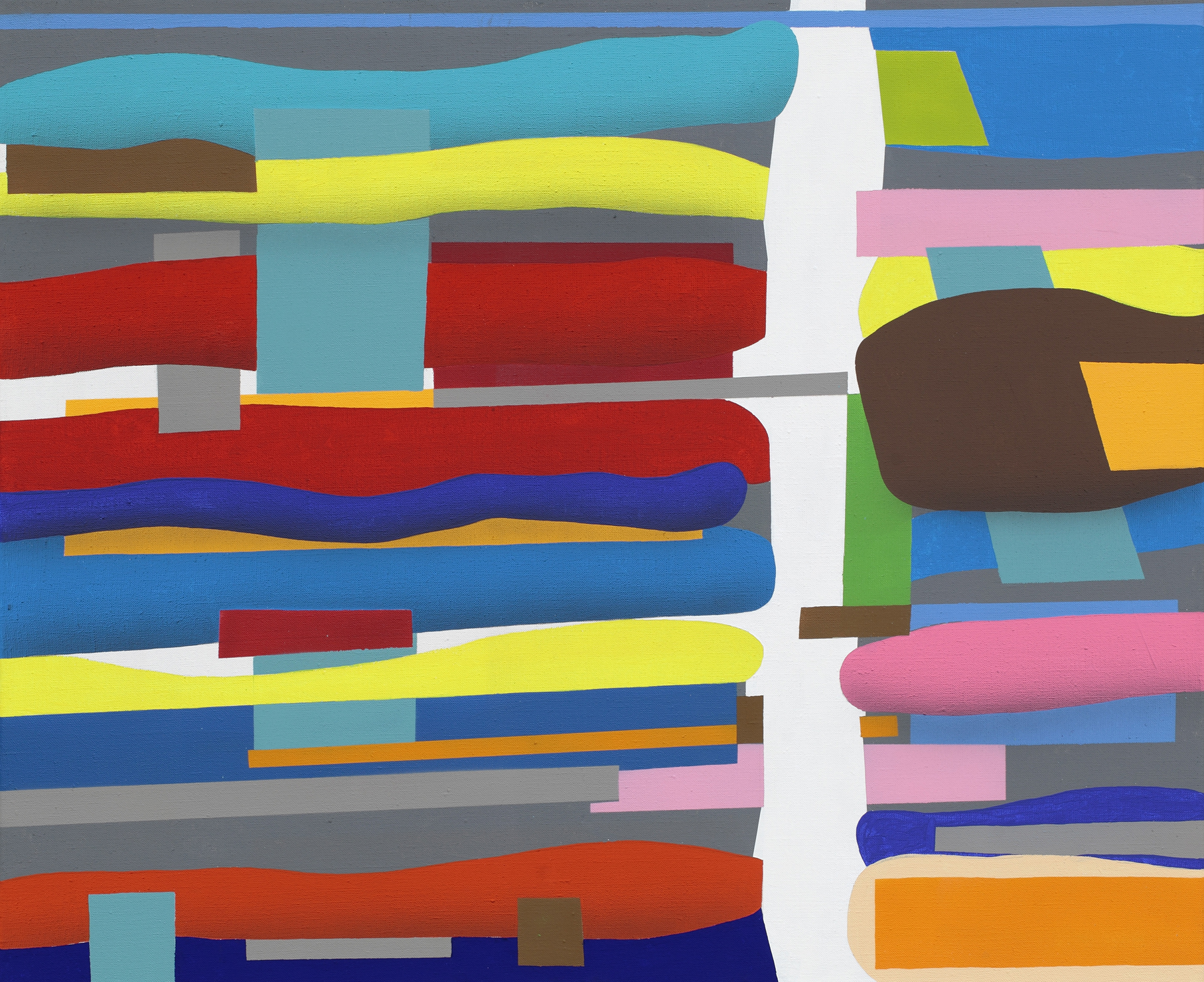 Touches Of Surface And Volume Forms XV. 2010, acrylic on canvas, 70 x 85 cm