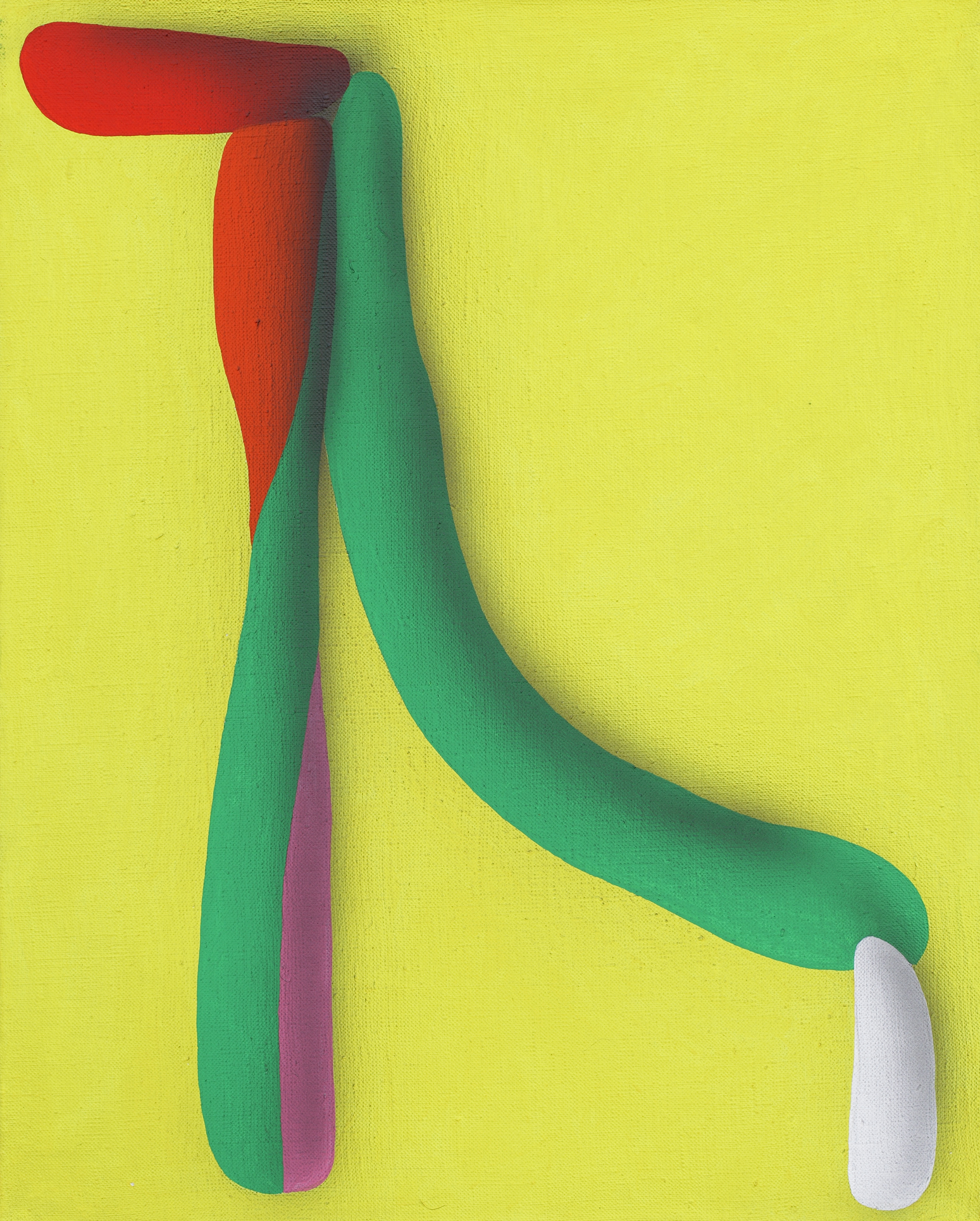 Elementary touching lines IV. 2010, acrylic on canvas, 50 x 40 cm