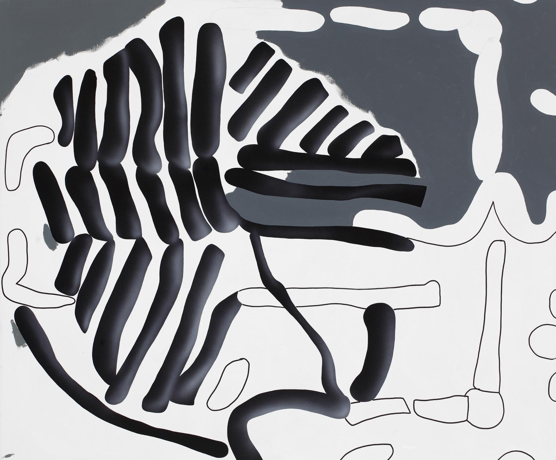 Circle I. 2011, acrylic on canvas, 120 x 140 cm