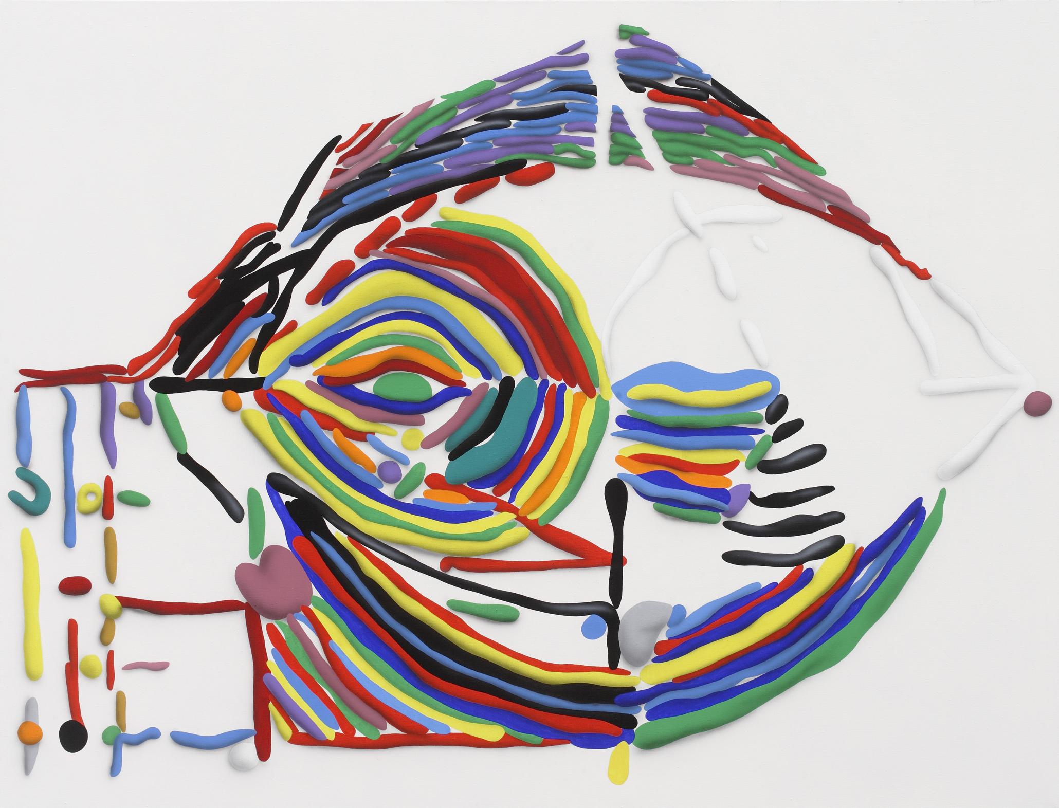 Circle, 2010, acrylic on canvas, 160 x 210 cm