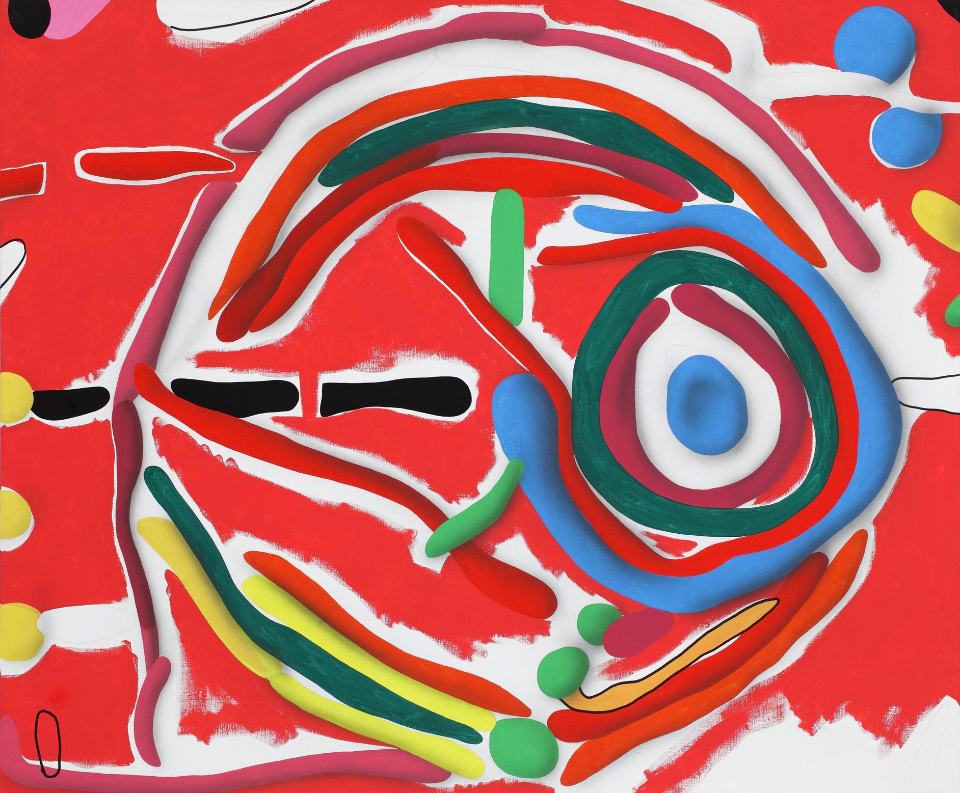 Circle II. 2011, acrylic on canvas, 120 x 140 cm