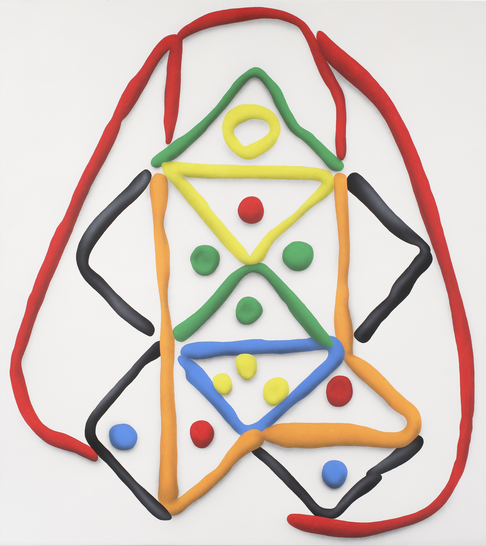 Pythagorean theorem II. 2010, acrylic on canvas, 200 x 180 cm