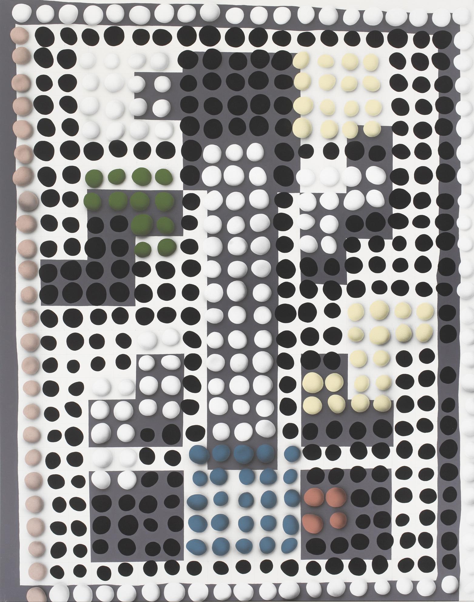 Vasarely, 2010, acrylic on canvas, 240 x 190 cm
