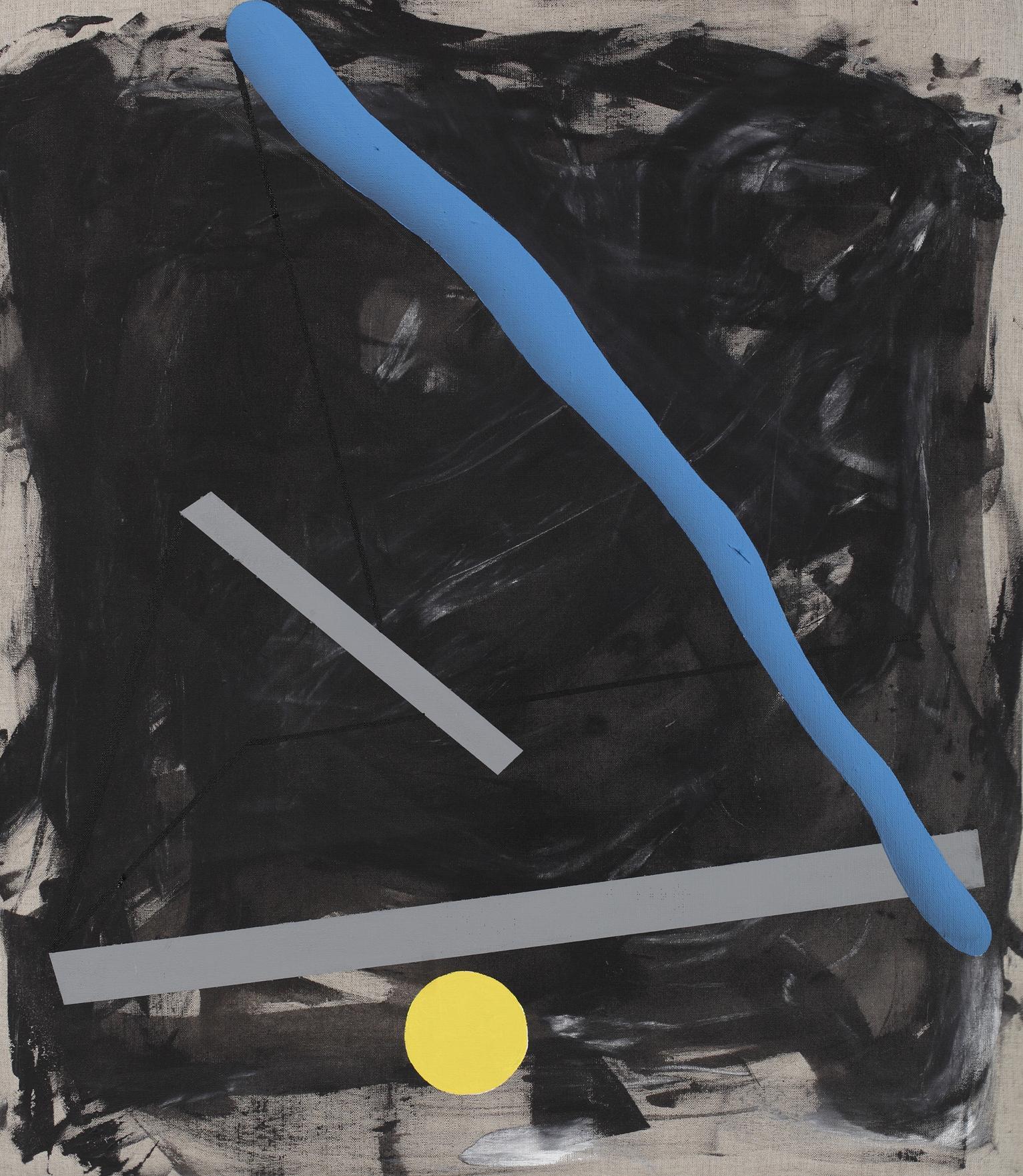 Construction No.1, 2011, acrylic on canvas, 80 x 70 cm