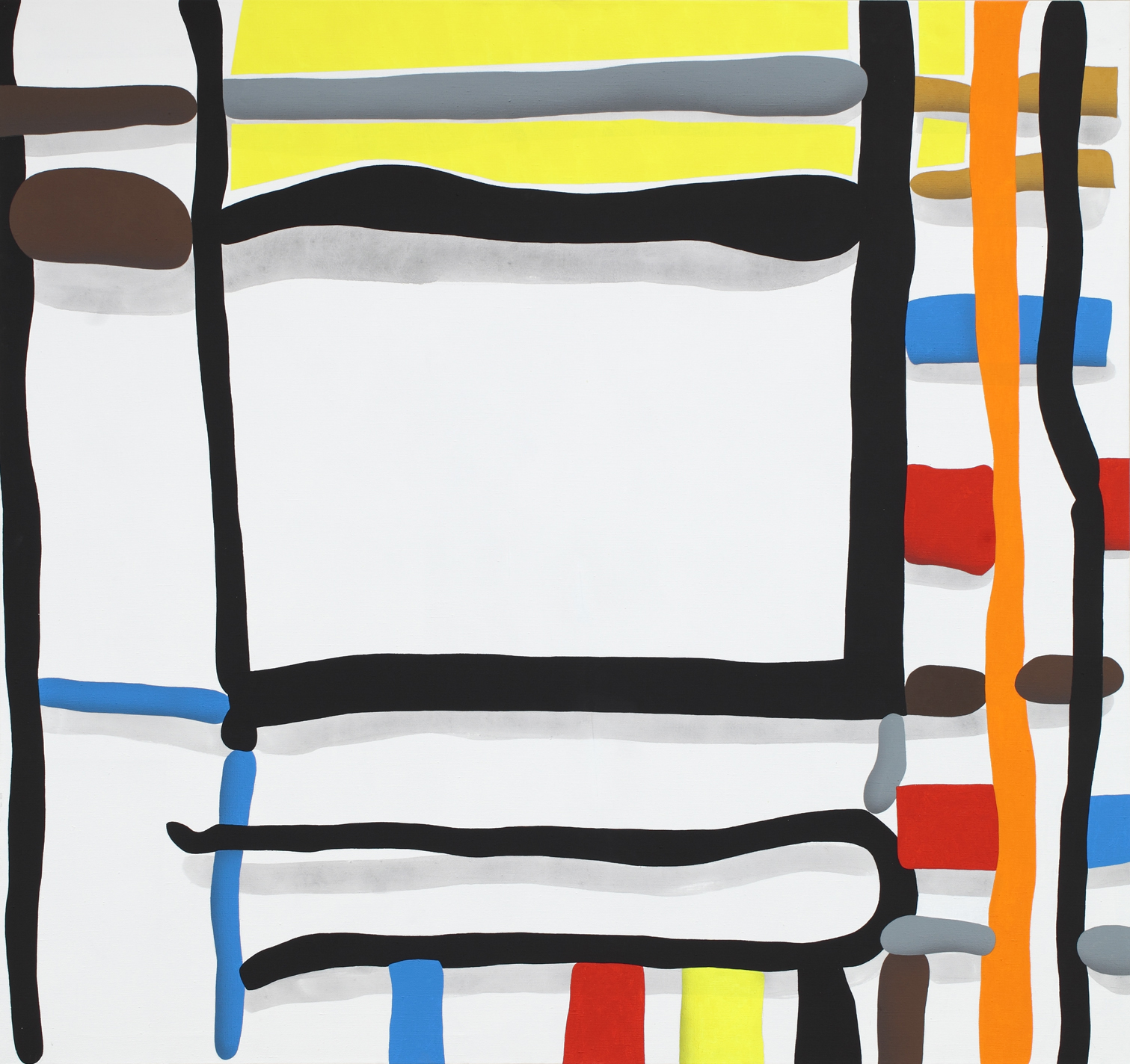 Composition No.9, 2011, acrylic on canvas, 150 x 160 cm