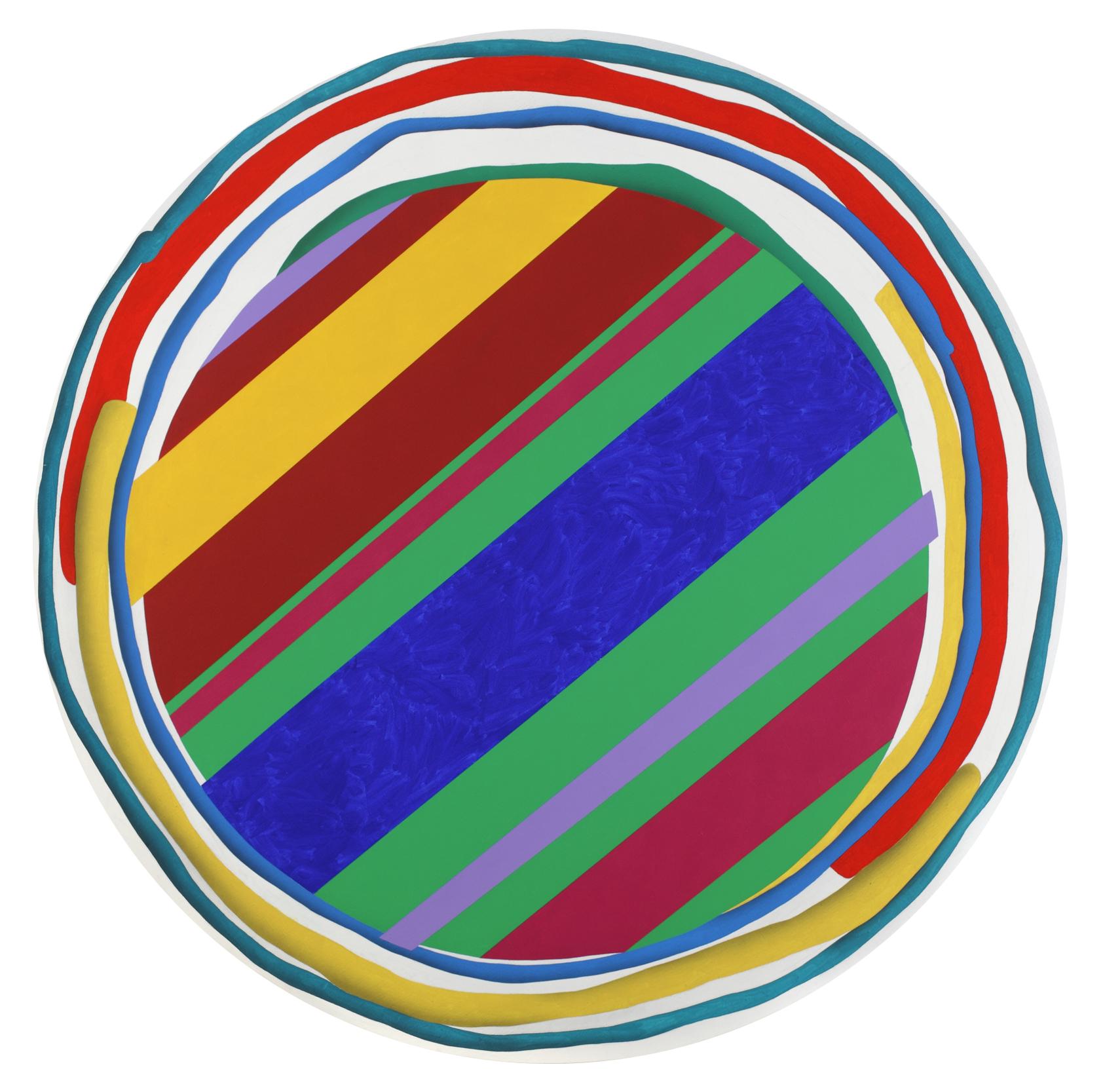 Mandala No. 2 /Pop art/ 2011, acrylic on canvas, 150 x 150 cm