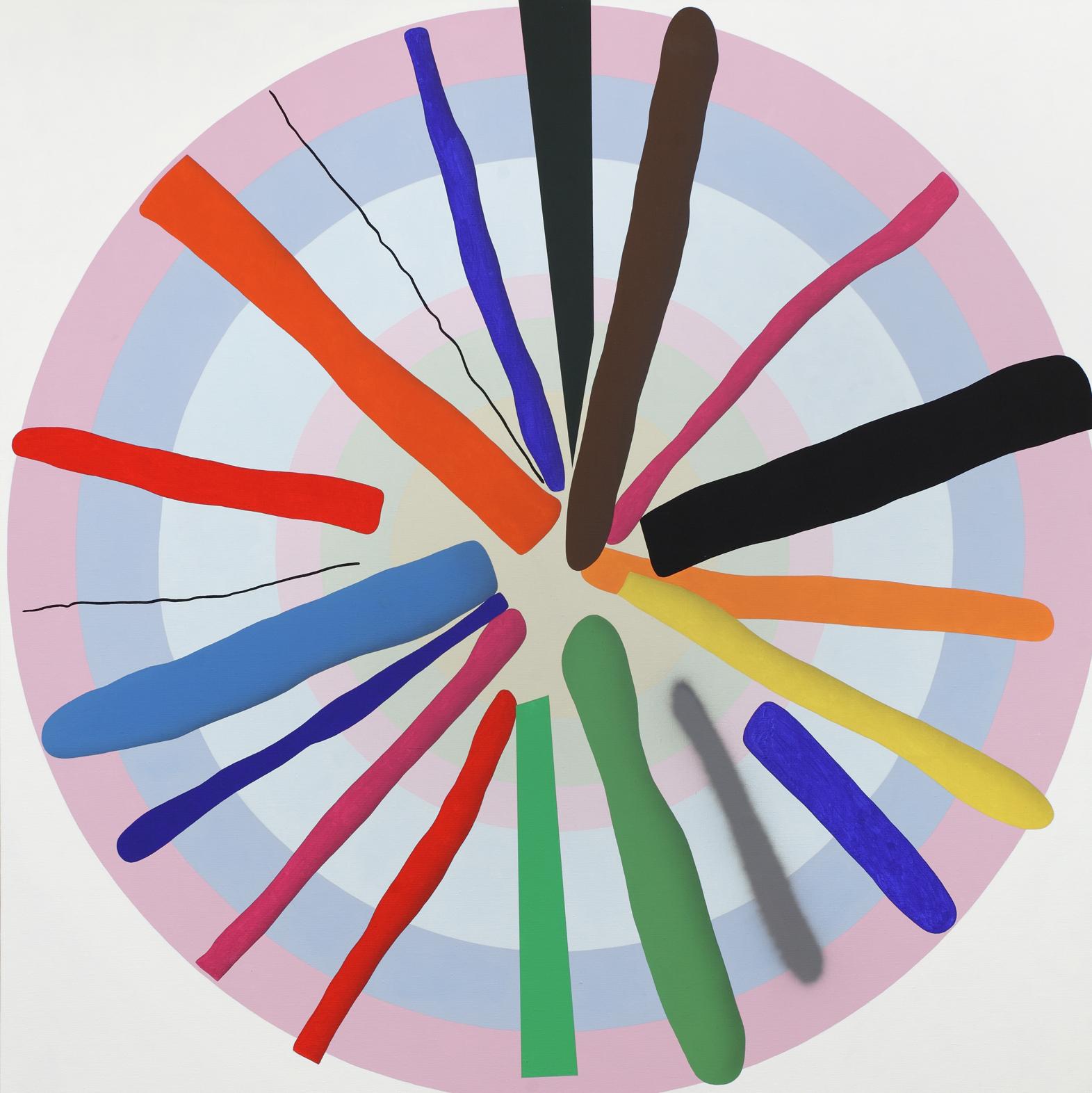 Mandala No. 3, 2011, acrylic on canvas, 200 x 200 cm