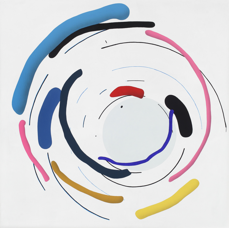 Mandala No. 9 /Rotary/ 2011, acrylic on canvas, 200 x 200 cm