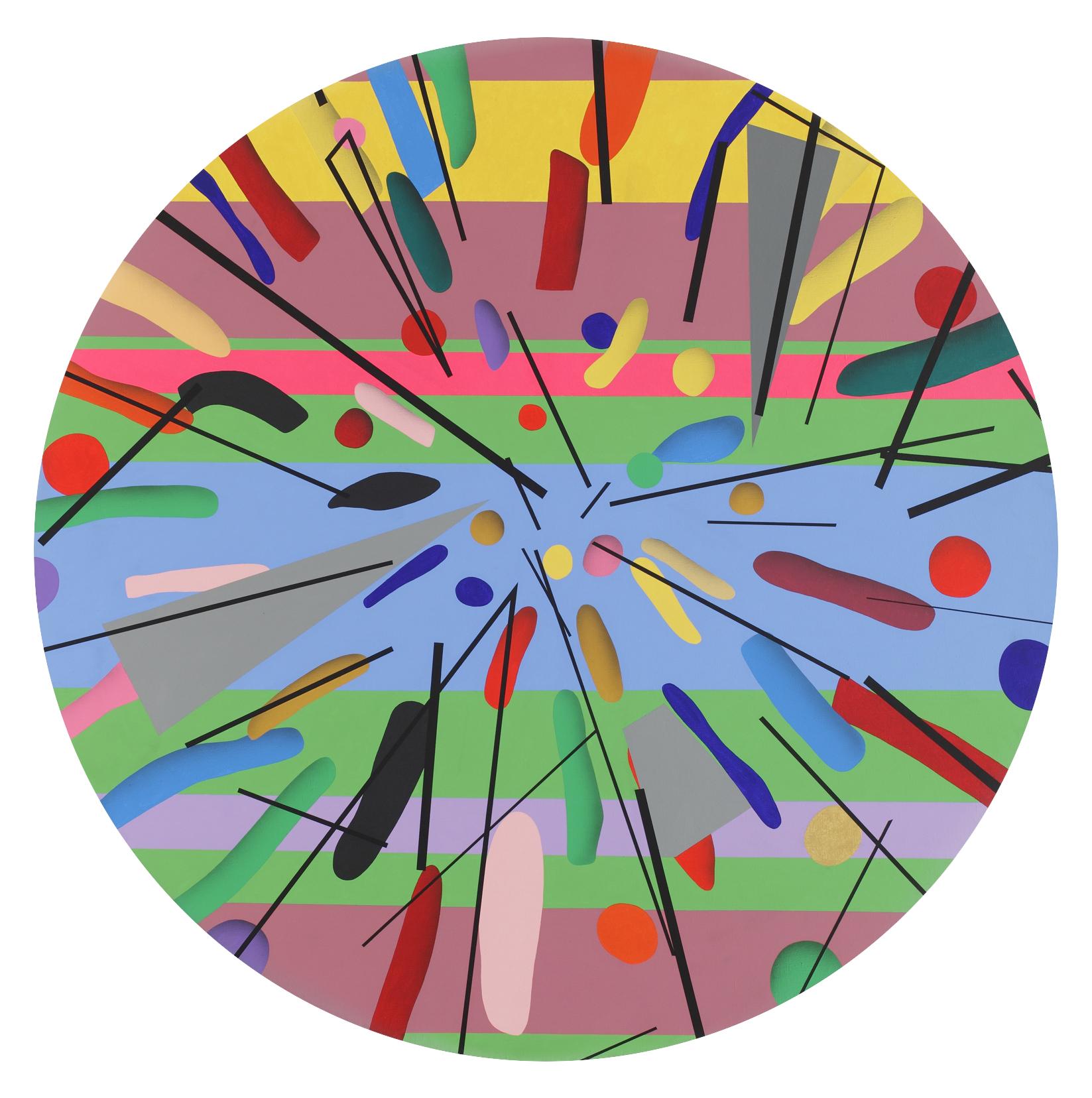 Mandala No. 14 /Horizontal/ 2011, acrylic on canvas, 180 x 180 cm