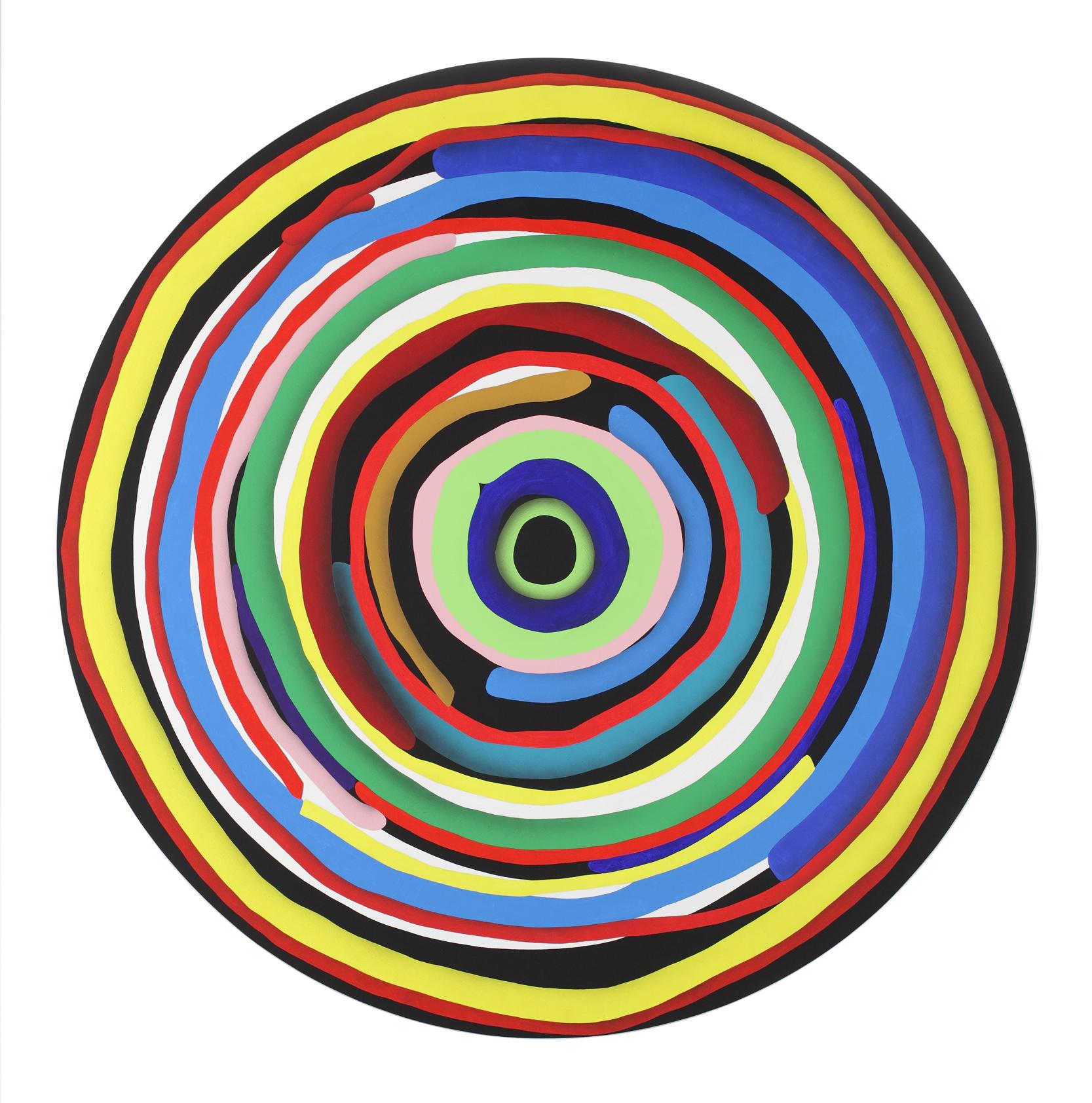 Mandala No. 13 /Target II./ 2012, acrylic on canvas, 200 x 200 cm