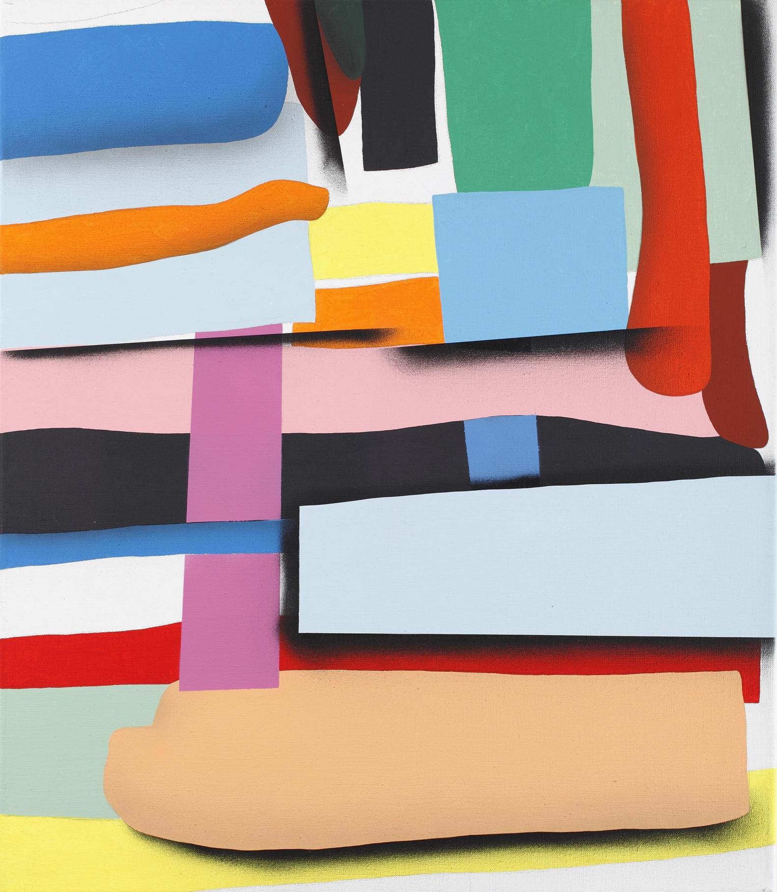 Neomondrians, Zoom No. 1, 2012, acrylic, spray on canvas, 75 x 65 cm