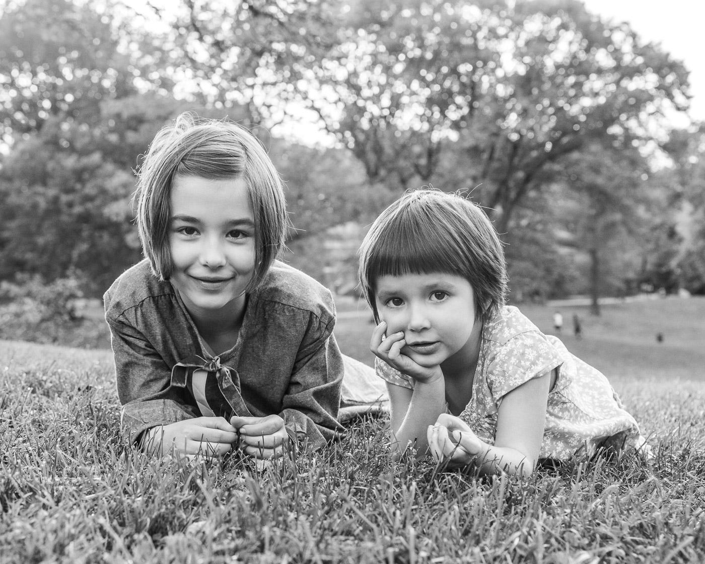 Child portrait photography - B&W